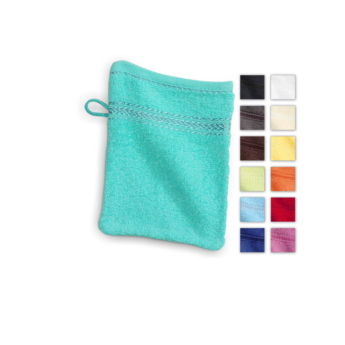 Washcloth Wash Cloth 100% Cotton Washing Glove Face Cloth 15x20 cm