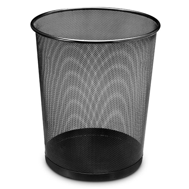 Draht-Papierkorb-Abfallkorb-Papiereimer-Muelleimer-Papiersammler-19L-Schwarz-35cm