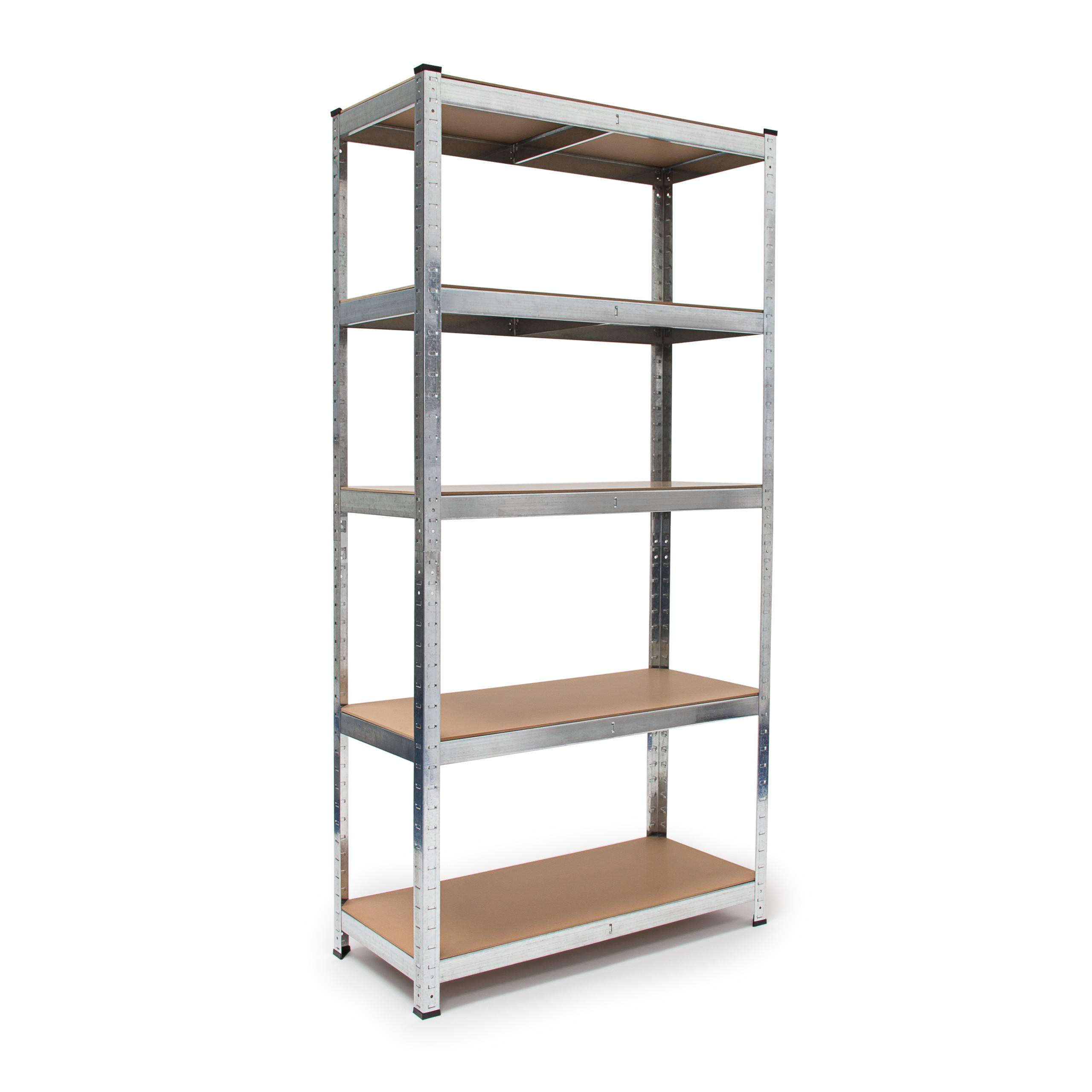 Scaffale-componibile-sistema-a-incastro-per-garage-5-ripiani-metallo-e-legno