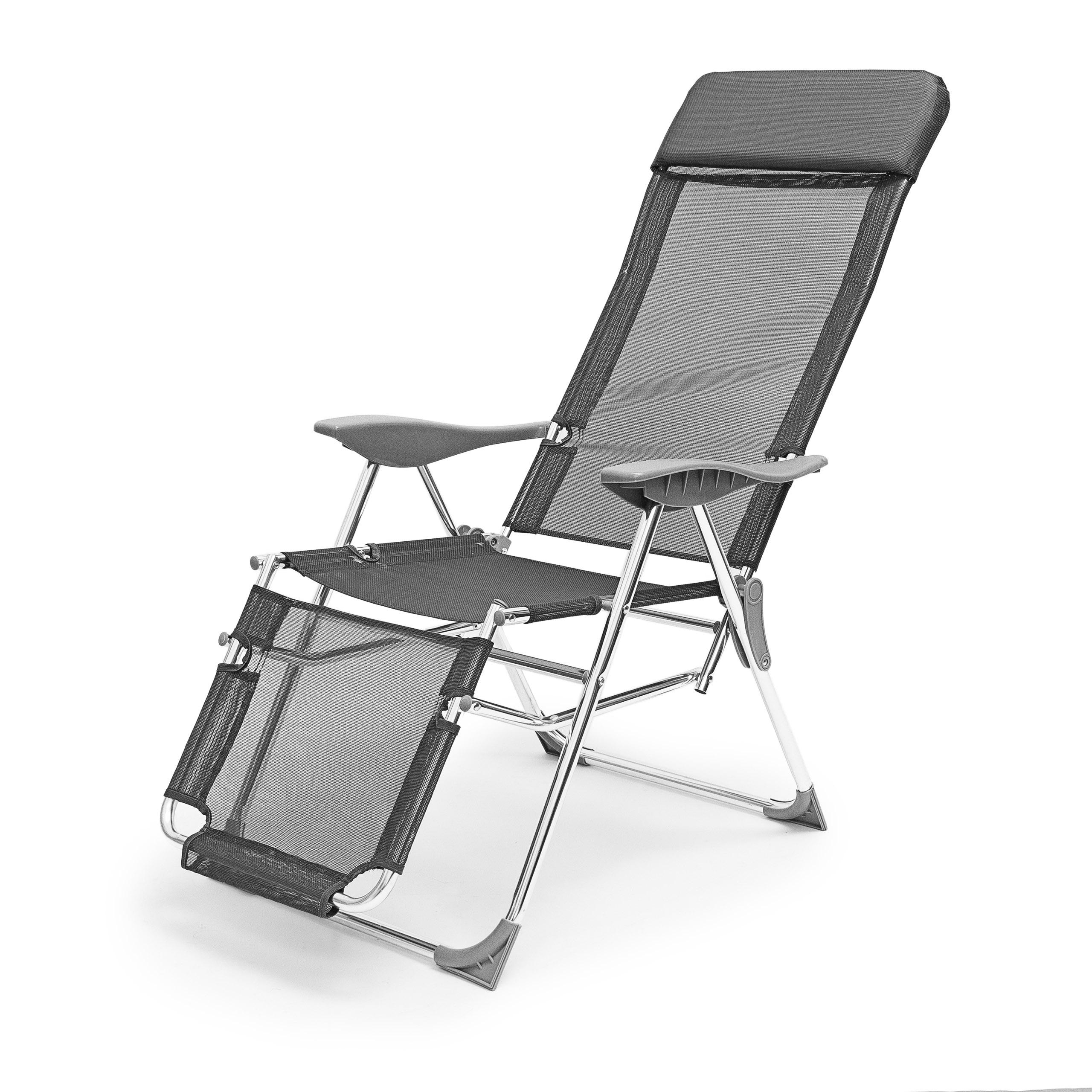 Chaise longue de camping pliante pliable transat plage