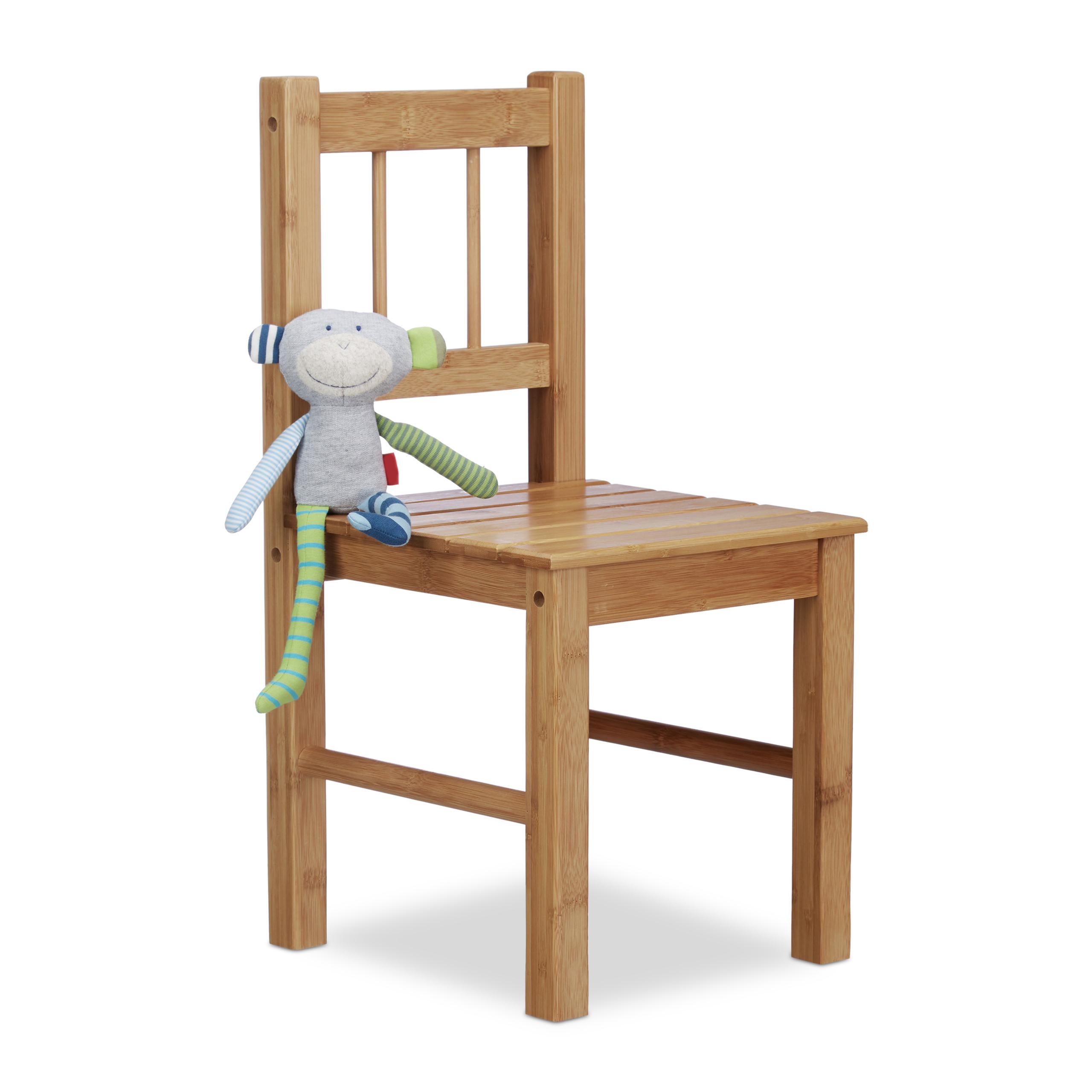 Petite chaise enfant en bambou chaise déco pour plantes ou fleurs
