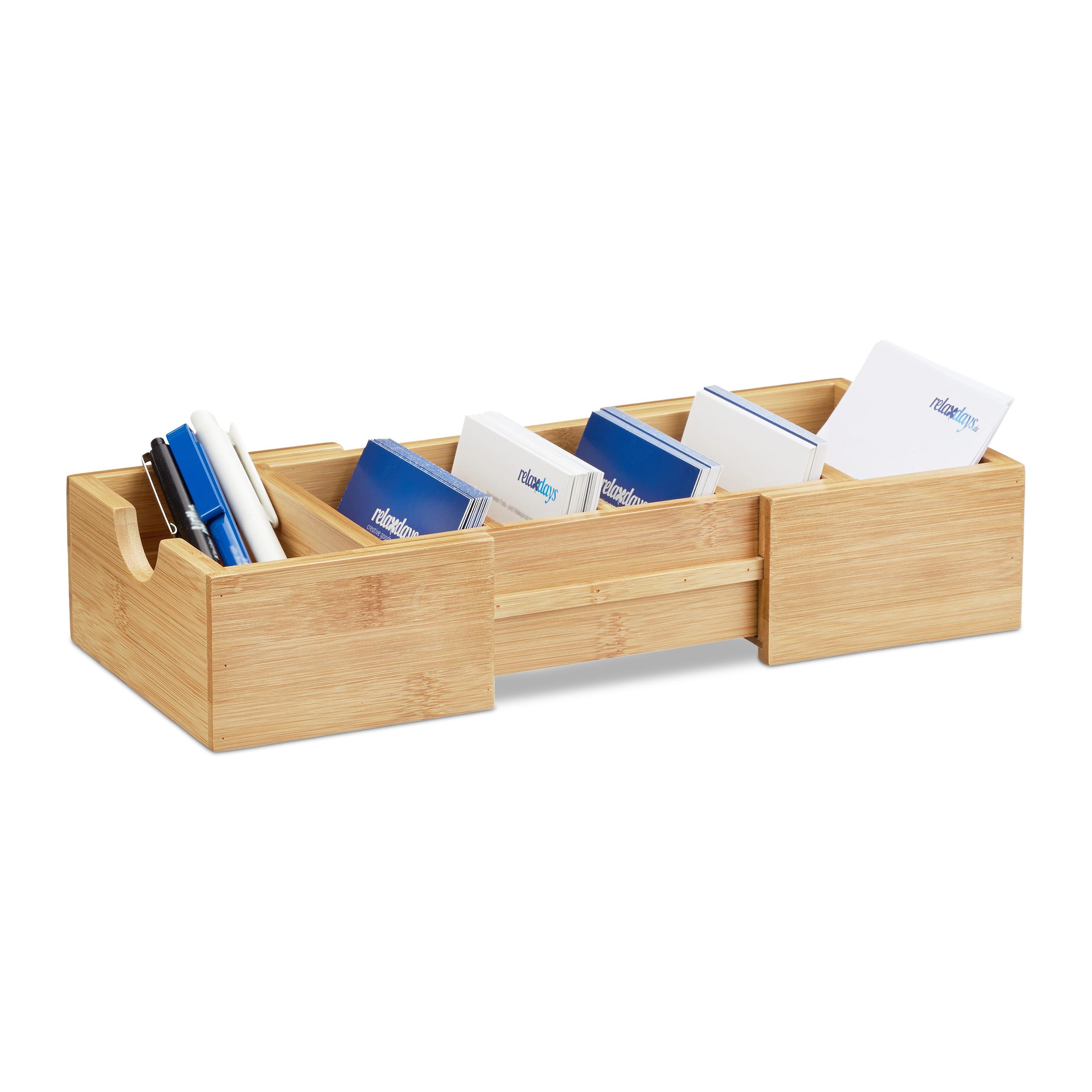 Karteikasten-DIN-A8-aus-natuerlichem-Bambus-als-Visitenkartenregister-Lernbox