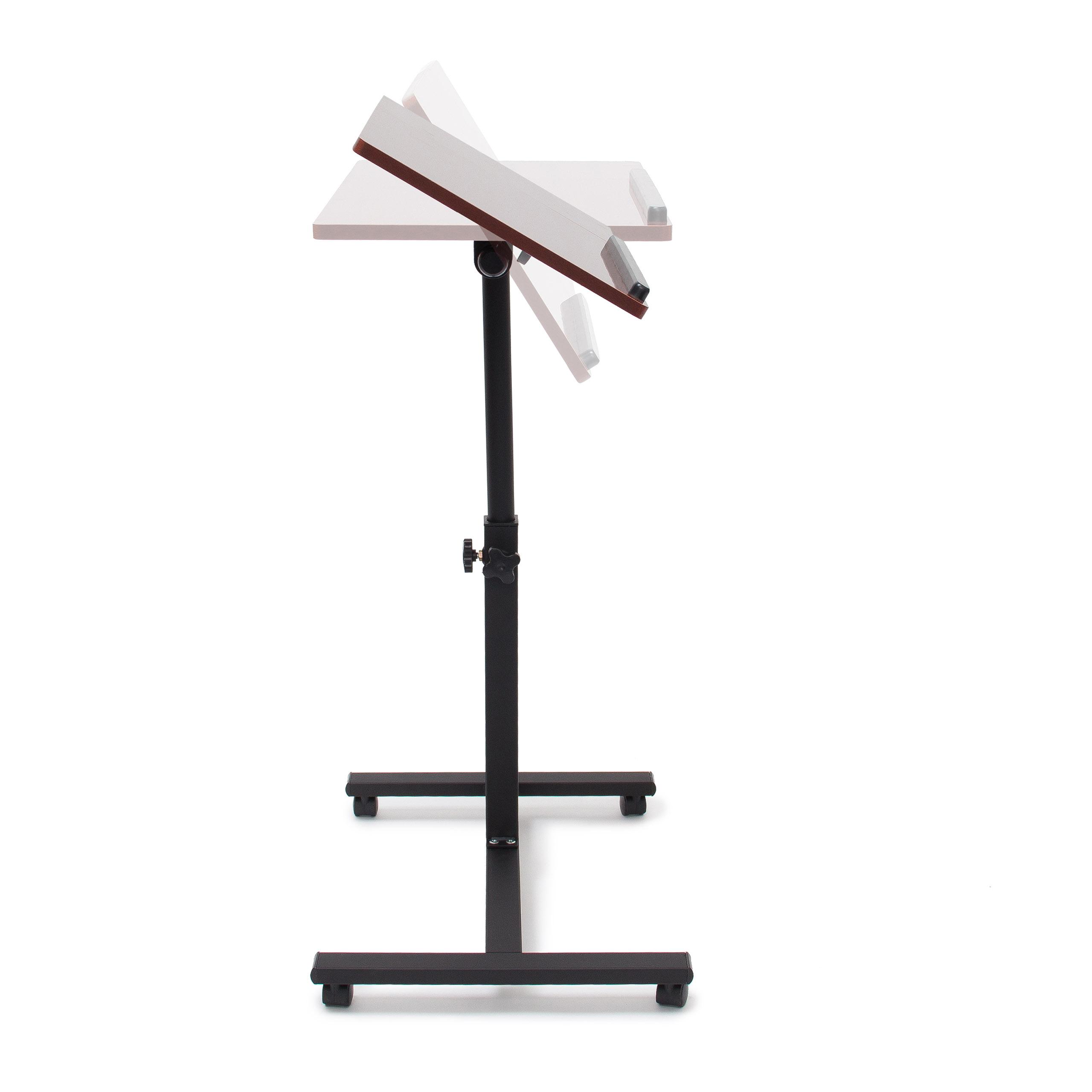 Laptoptisch höhenverstellbar Notebook Ständer Laptop Tisch Holz Sofatisch Rollen