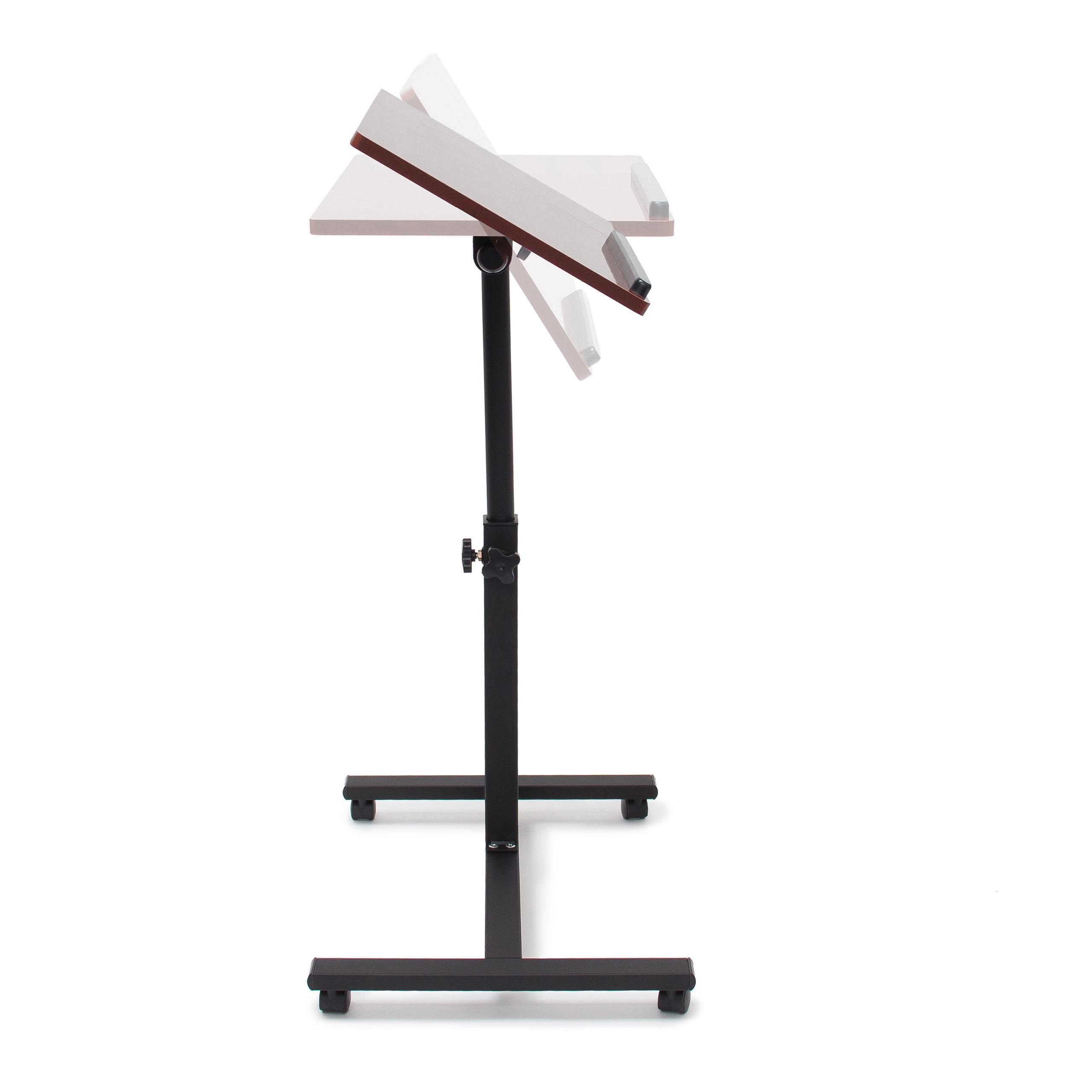 Laptoptisch höhenverstellbar Linkshänder Notebook Ständer Sofa Tisch Rollen Holz