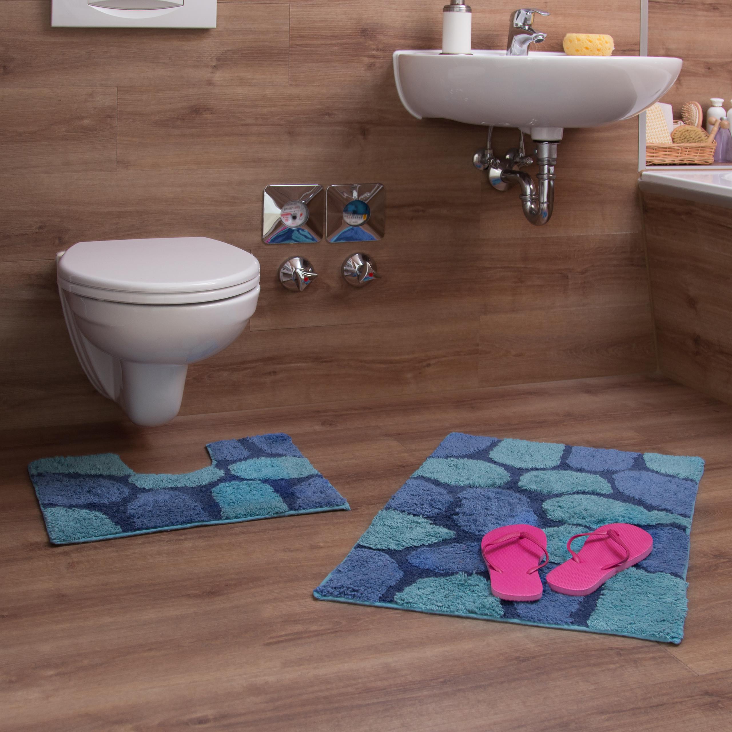 Badgarnitur Badvorleger Vorleger für Stand-WC Badmatte Badteppich Duschmatte