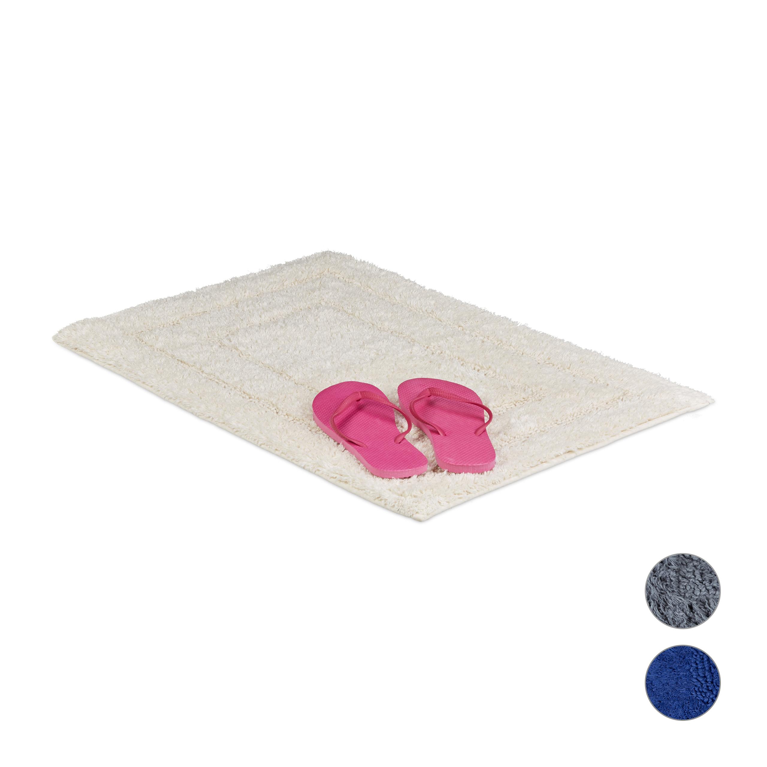 Tapis de bain coton tapis de baignoire bleu salle de bain