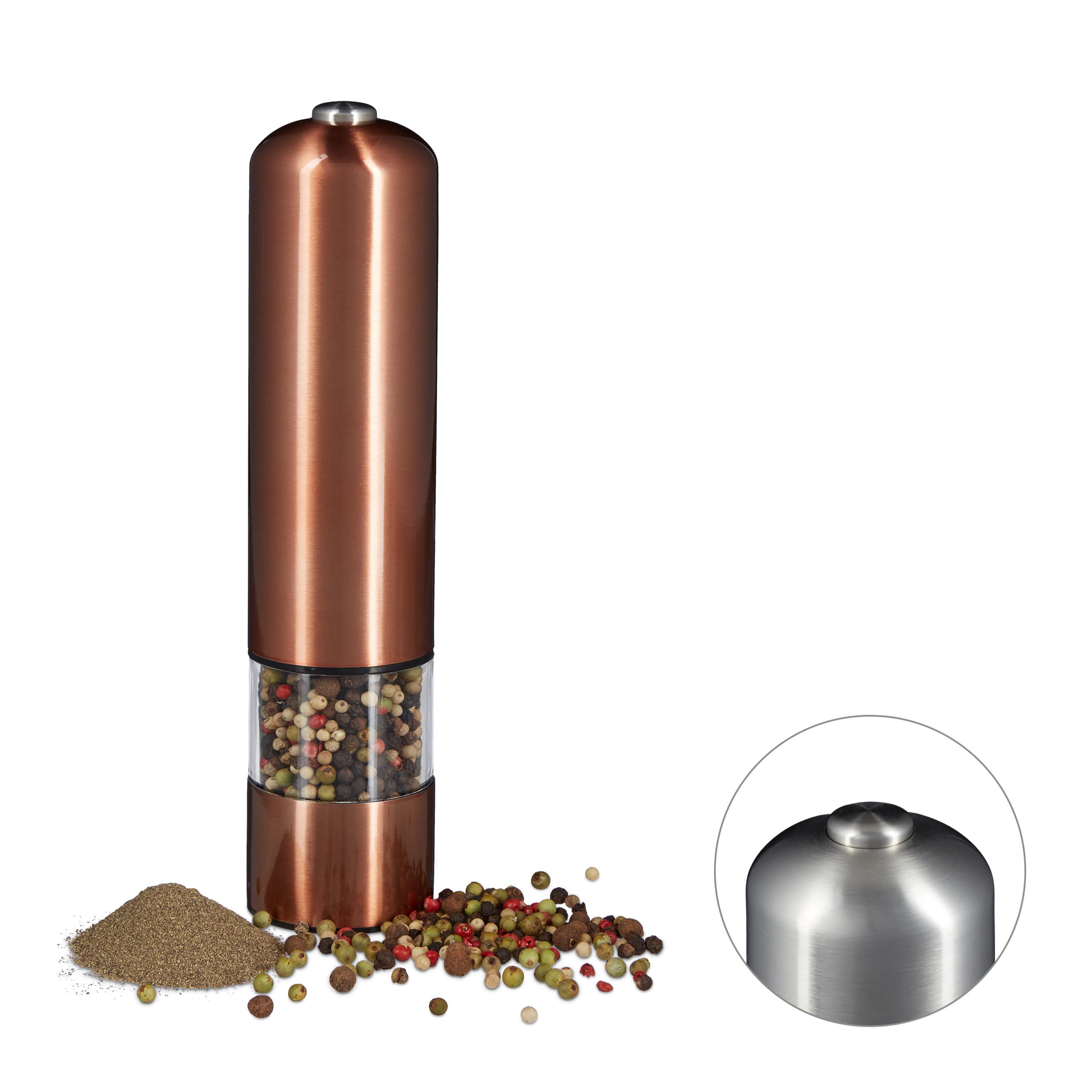 Moulin à poivre électrique moulin à sel moulin à épices à piles bronze