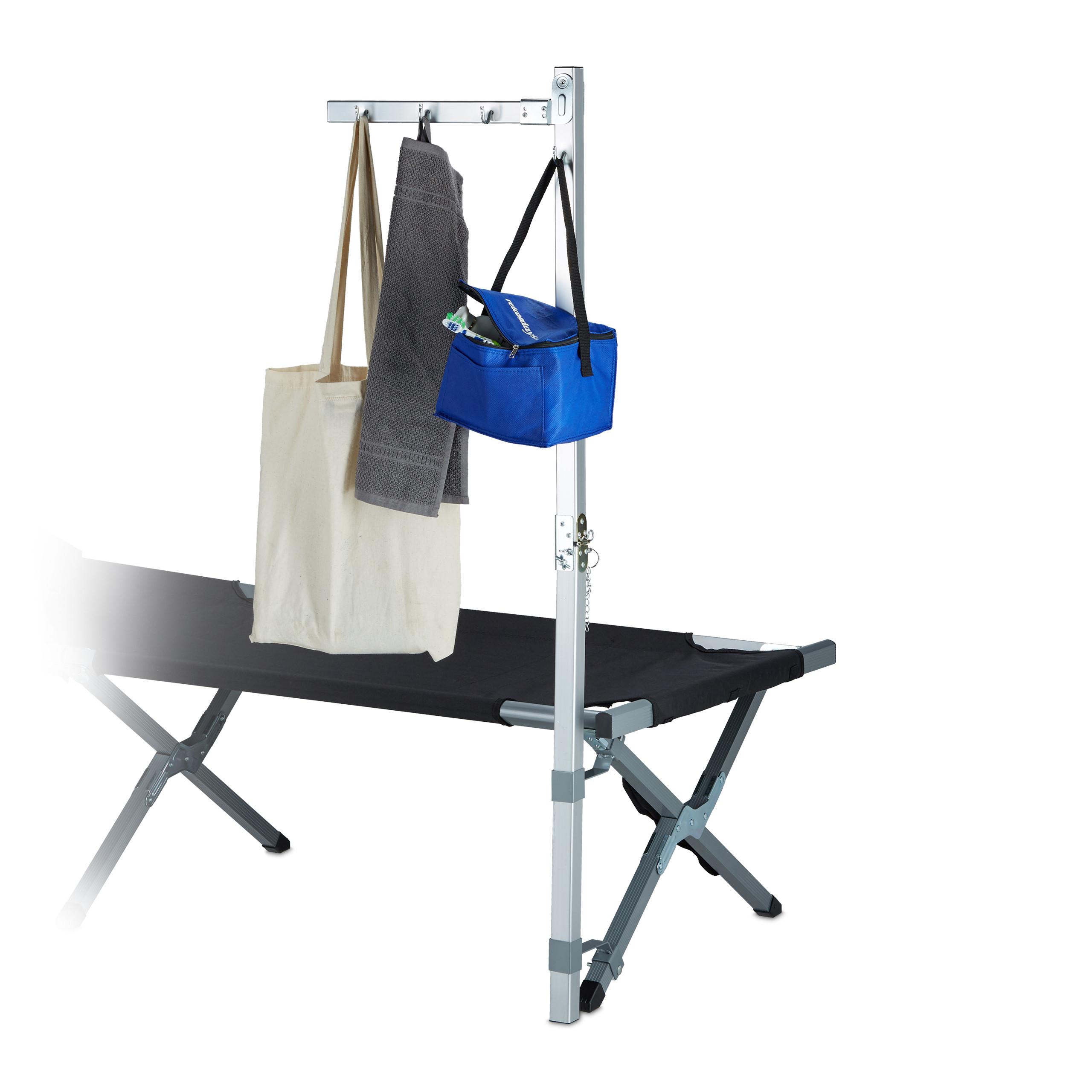 Kleiderständer Camping Aluminium Für Campingliegen Feldbett Silber