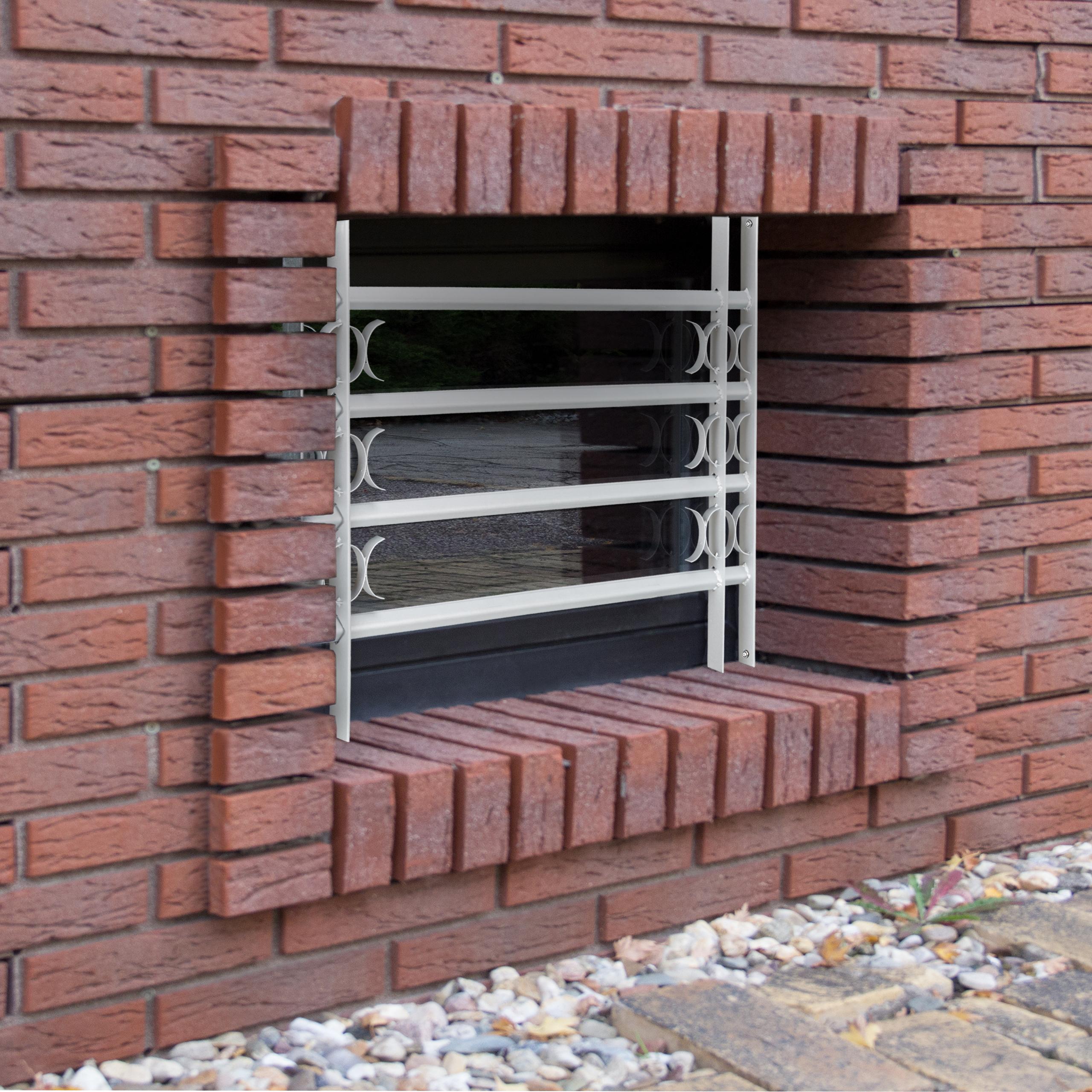 Fenstergitter Einbruchschutz ausziehbar verzinkt Sicherheitsgitter Stahlgitter