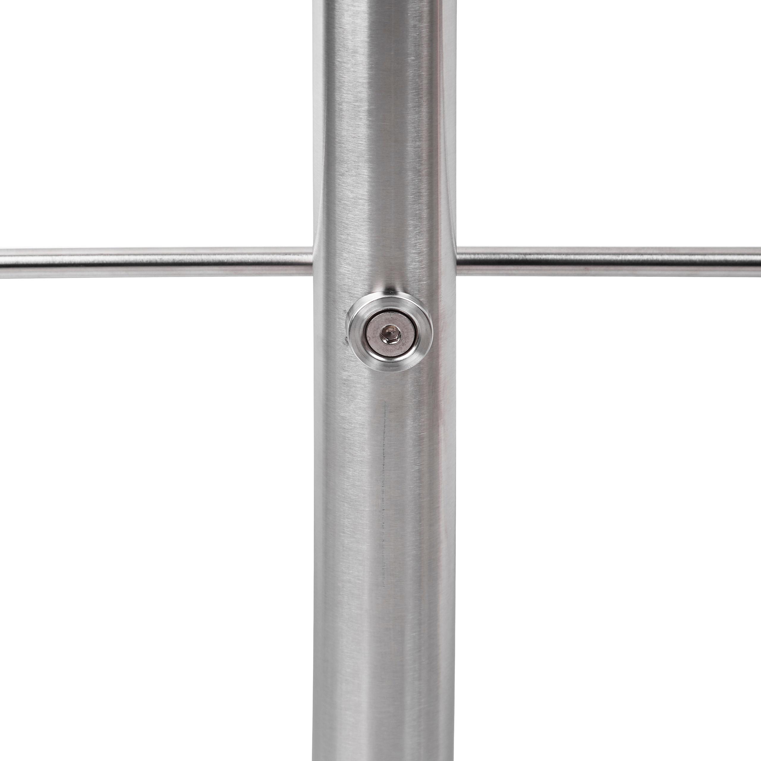 Treppengeländer Set aus Edelstahl für den Außenbereich Treppenhandlauf Silber