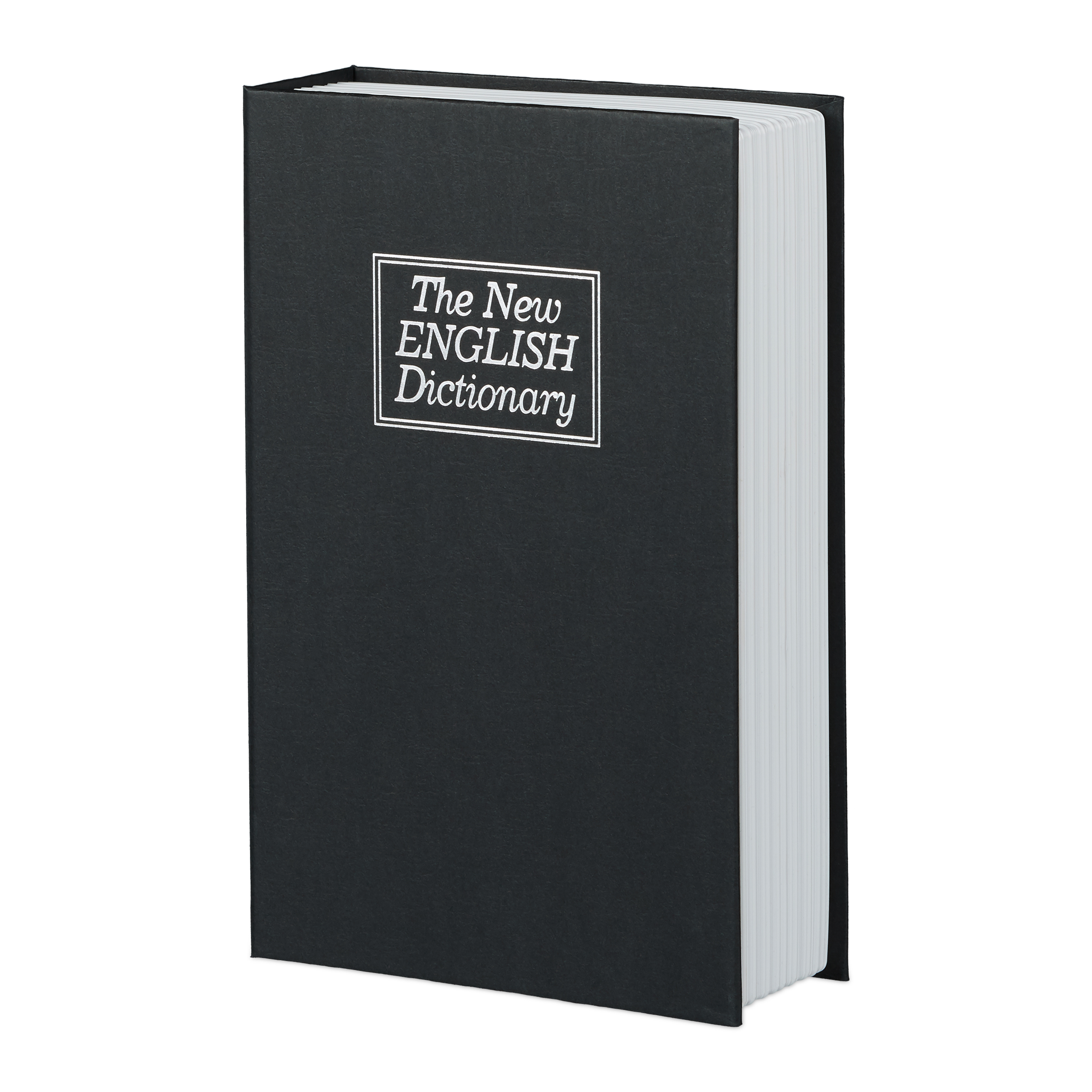 Attrappe Buchtresor mit Stahlschließfach Safe als Englisch-Wörterbuch getarnt