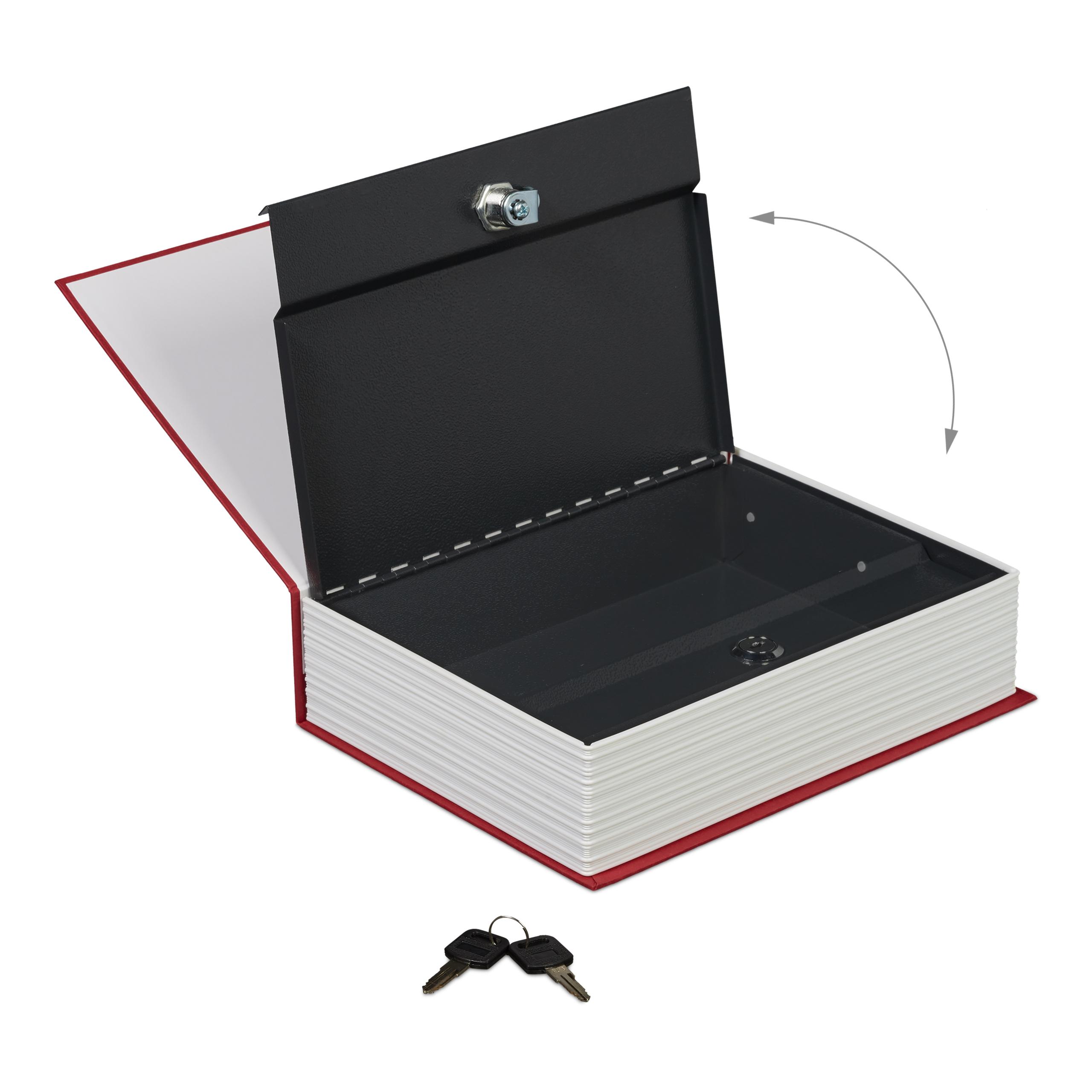 Buchtresor groß verschließbar 2 Schlüssel Stahlkassette Englisch Wörterbuch Safe