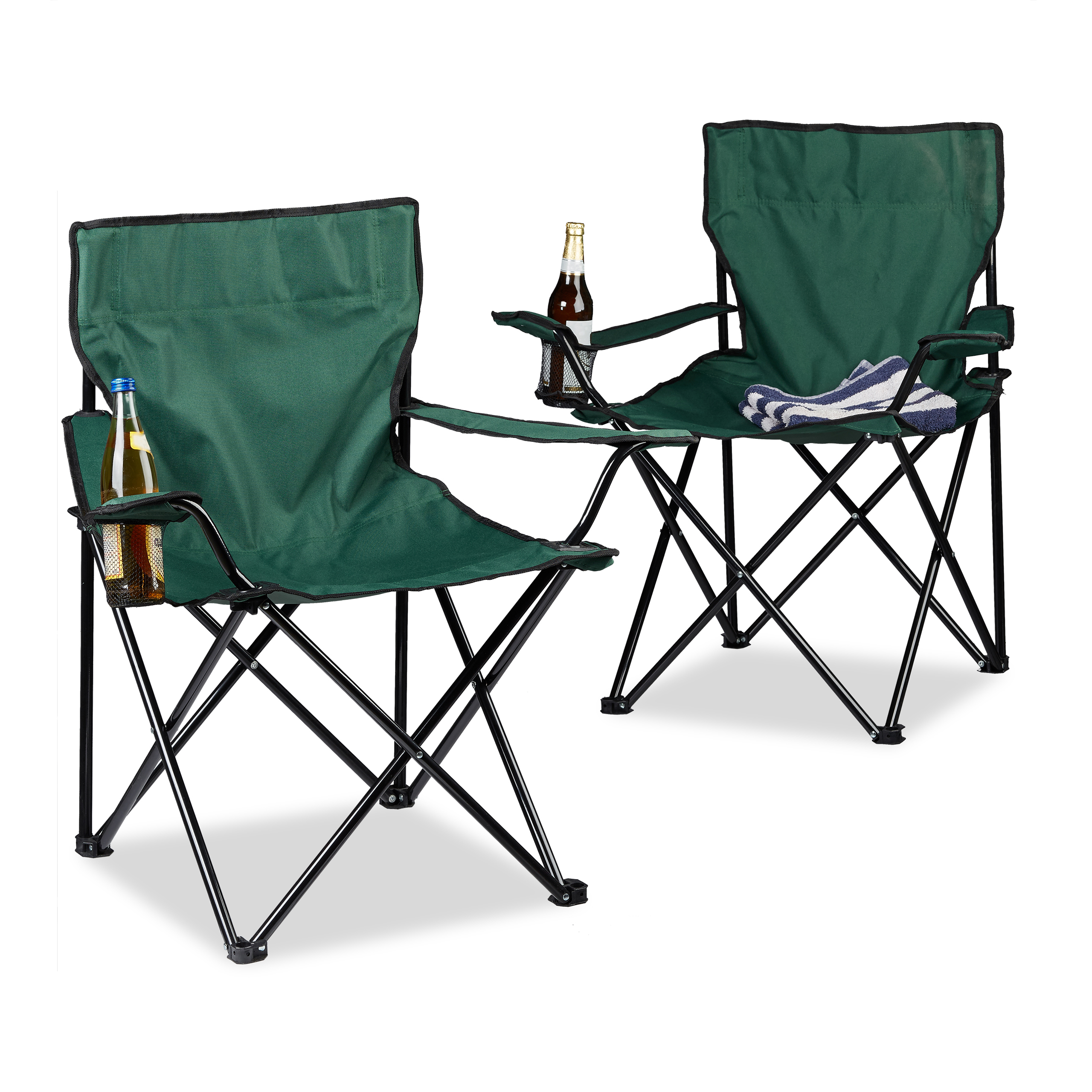 Set-of-2-Camping-Chairs-with-one-Cup-Holder-and-Armrests-Folding-Fishing-Chair