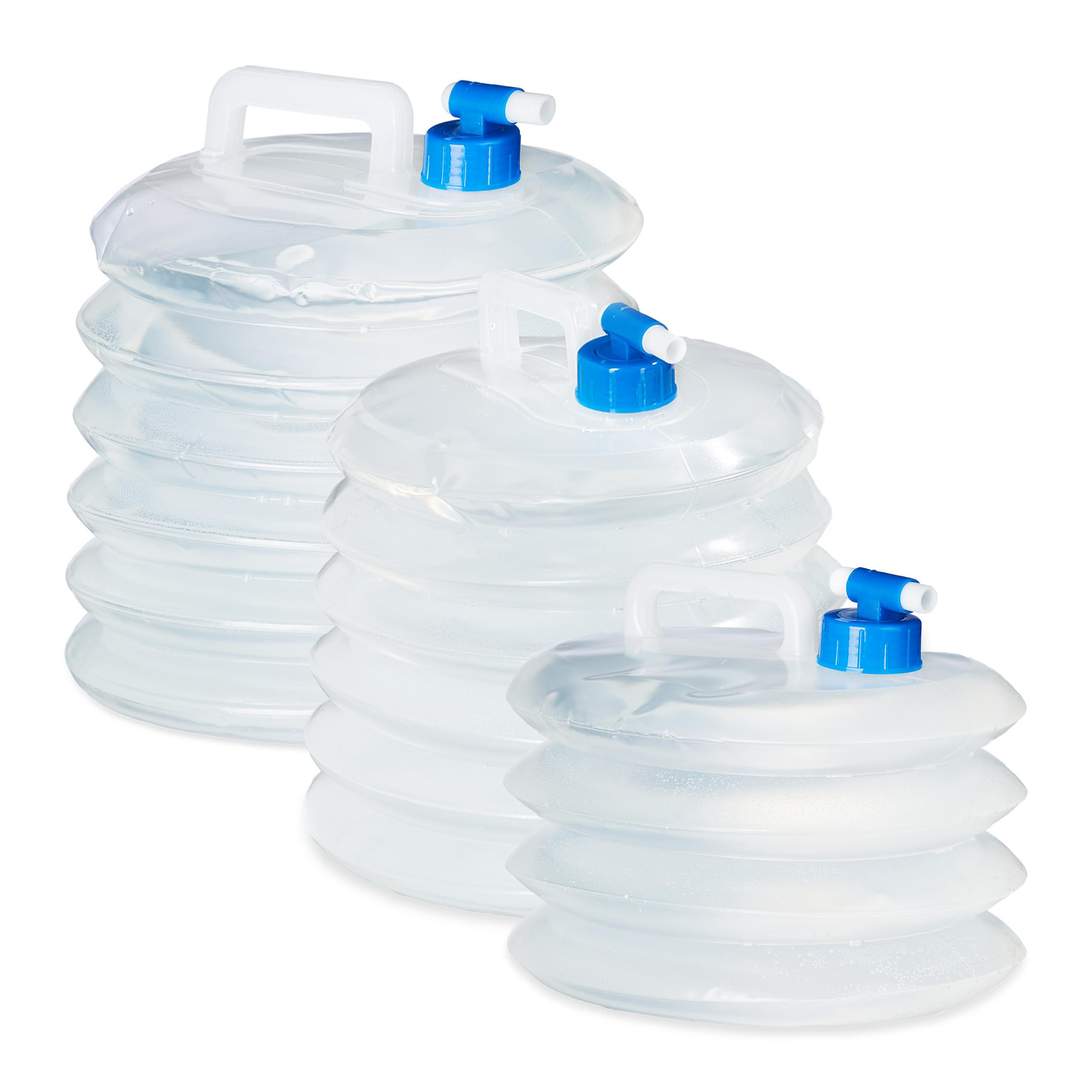Wasserkanister faltbar Set 4x Camping Trinkwasser Kanister Wasserbehälter 5-15 L