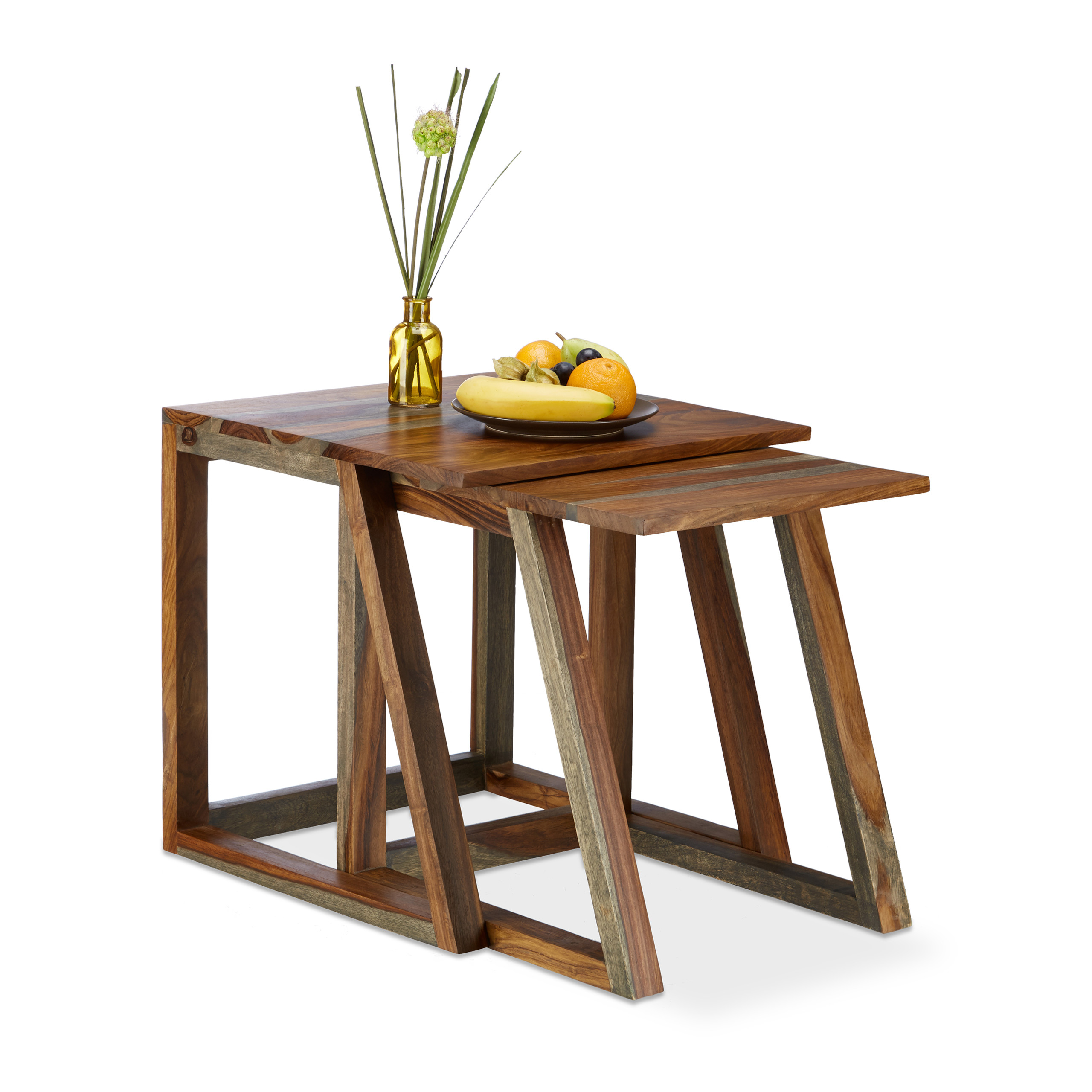 Sheesham-Side-Table-Set-Rosewood-Nesting-Tables-Square-Magazine-Tables-Wood