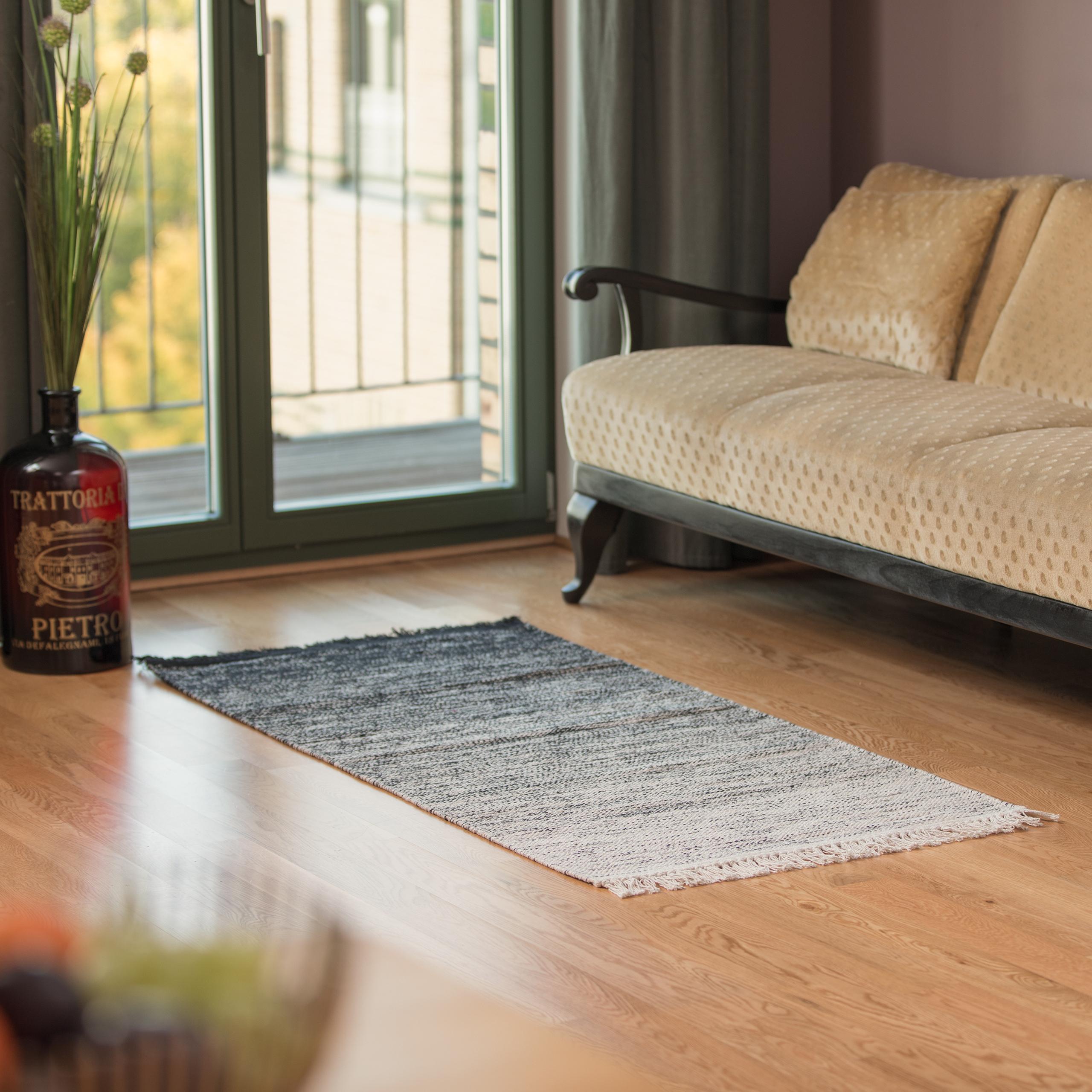 Kurzflor 3 Größen Baumwolle Läufer Dielenläufer Teppichläufer Flur Fußmatte