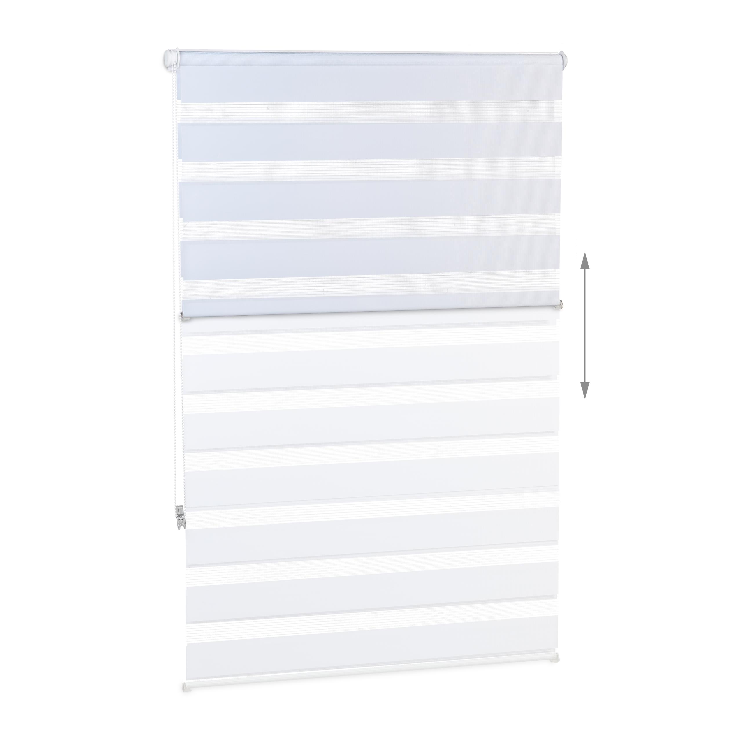 Doppelrollo Klemmfix Fensterrollo Seitenzugrollo Duorollo Sonnenschutzrollo weiß