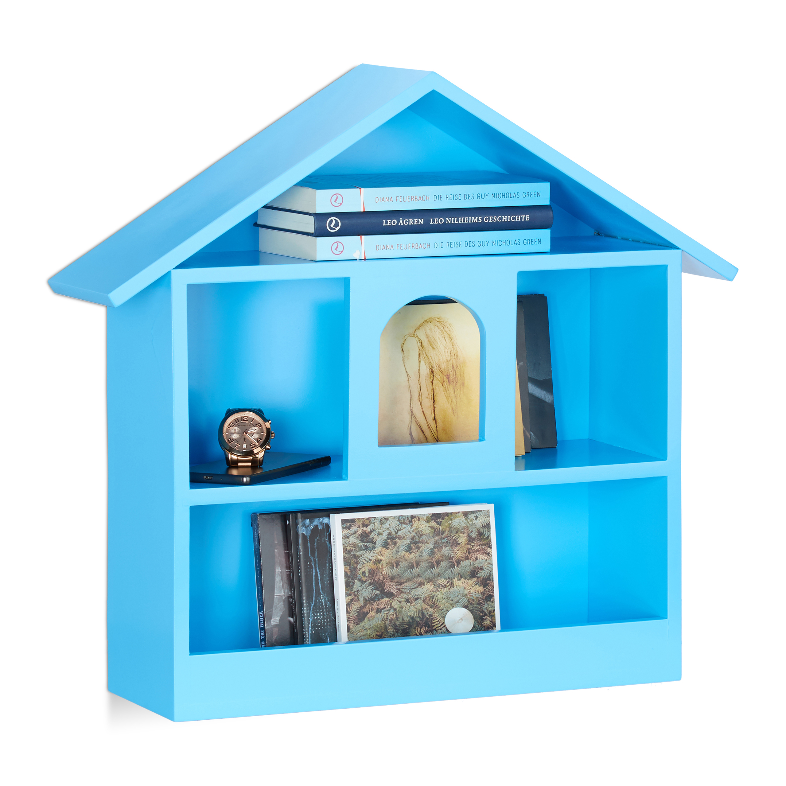 Wandablage Wandregal Hausform Schaukasten Setzkasten Dekoregal MDF Holzhaus