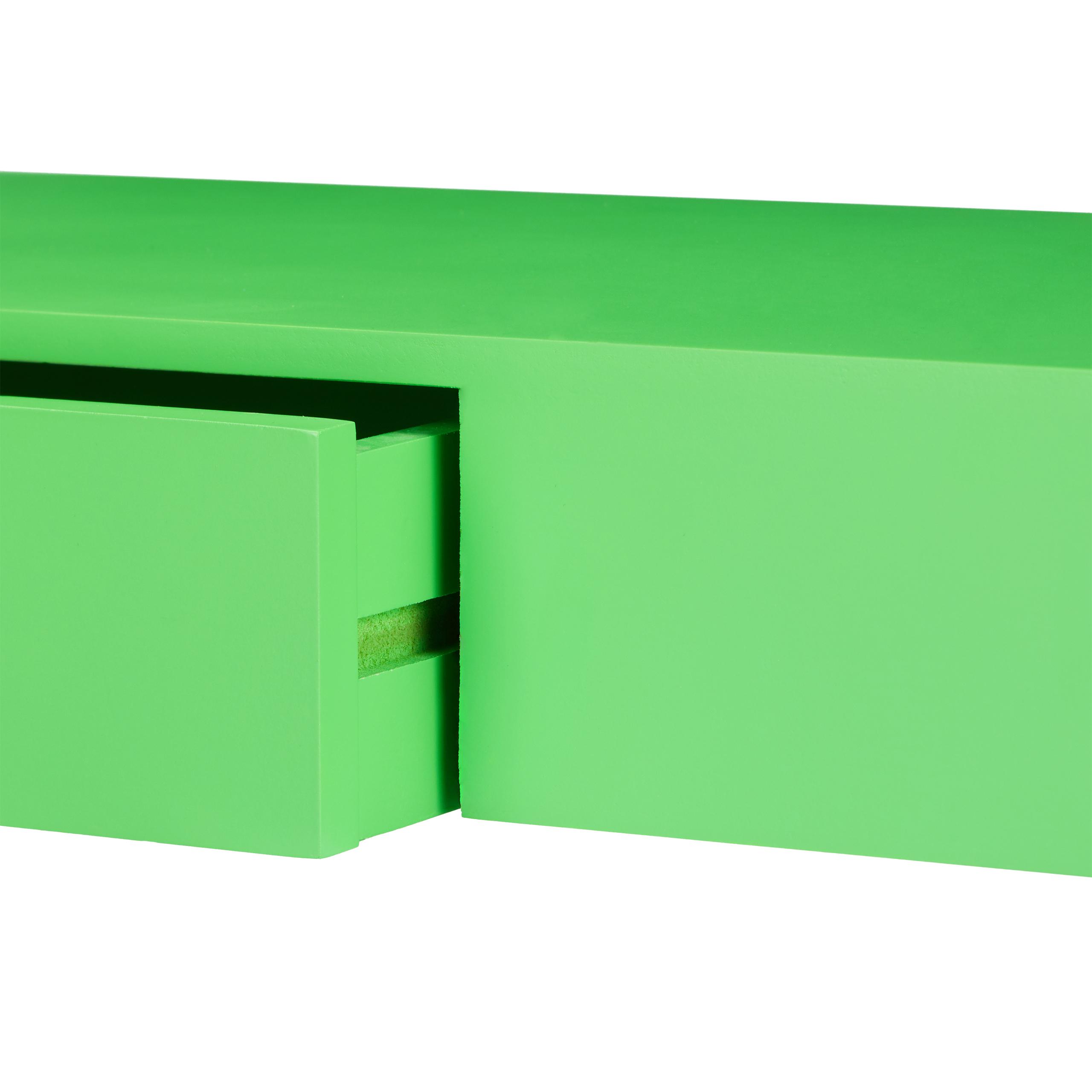 Wandregal mit Schublade freischwebend Design Deko Wohnzimmer modern Ablage