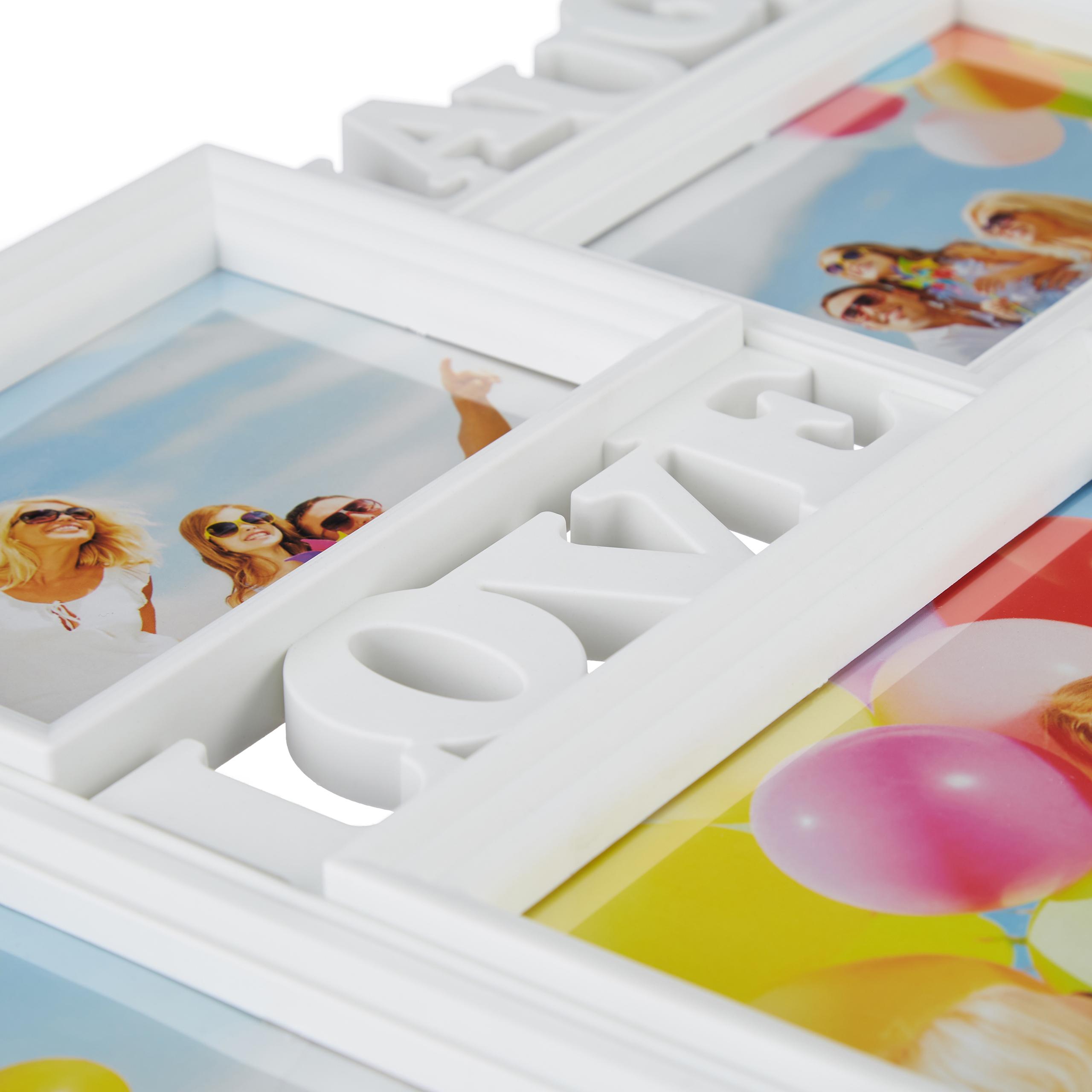 Bilderrahmen Live Love Laugh Fotorahmen für 5 Bilder verschiedener Größe Collage