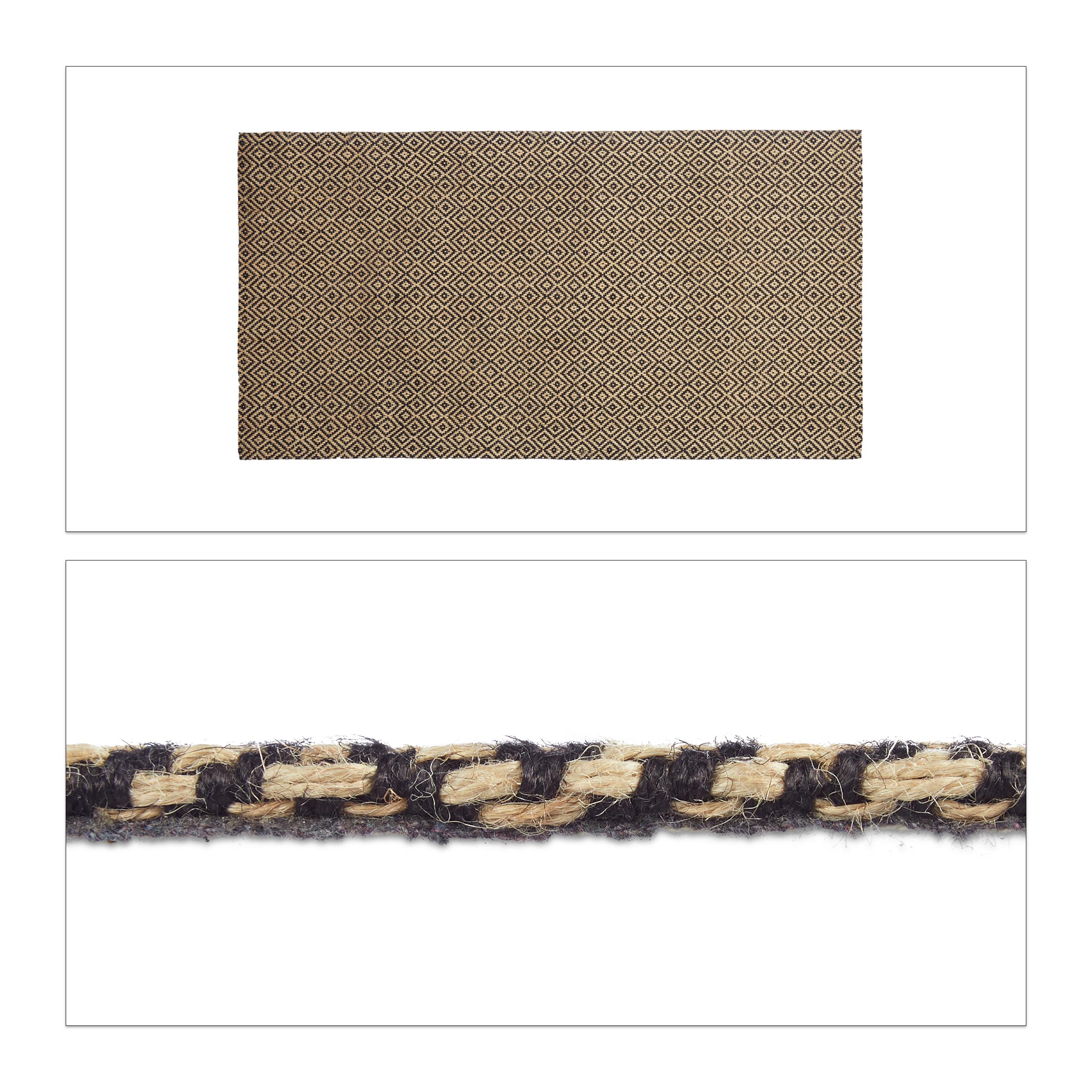 Teppichläufer Muster Flurteppich Juteteppich Webteppich Flurläufer Küchenläufer