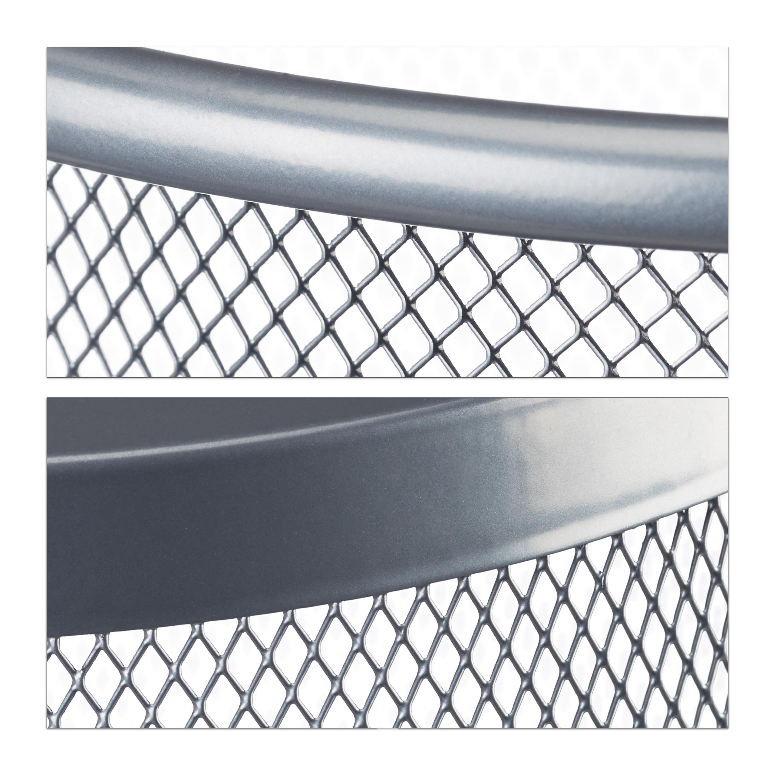 Papierkorb Metall Mülleimer Metallgeflecht Abfallkorb Papiersammler Papiereimer