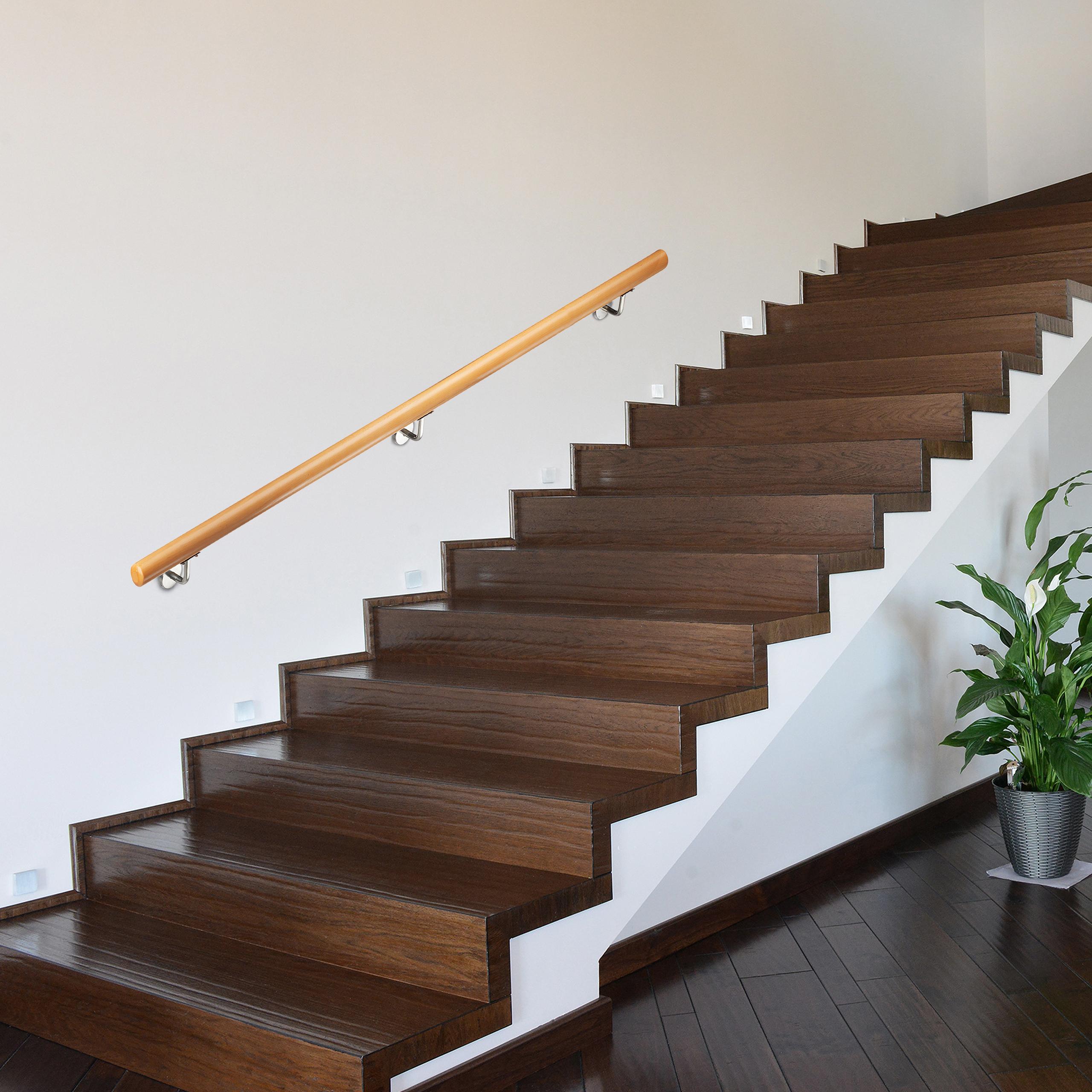 Handlauf Holz Treppenhandlauf Holzhandlauf Treppengeländer bis 2 m Wandmontage