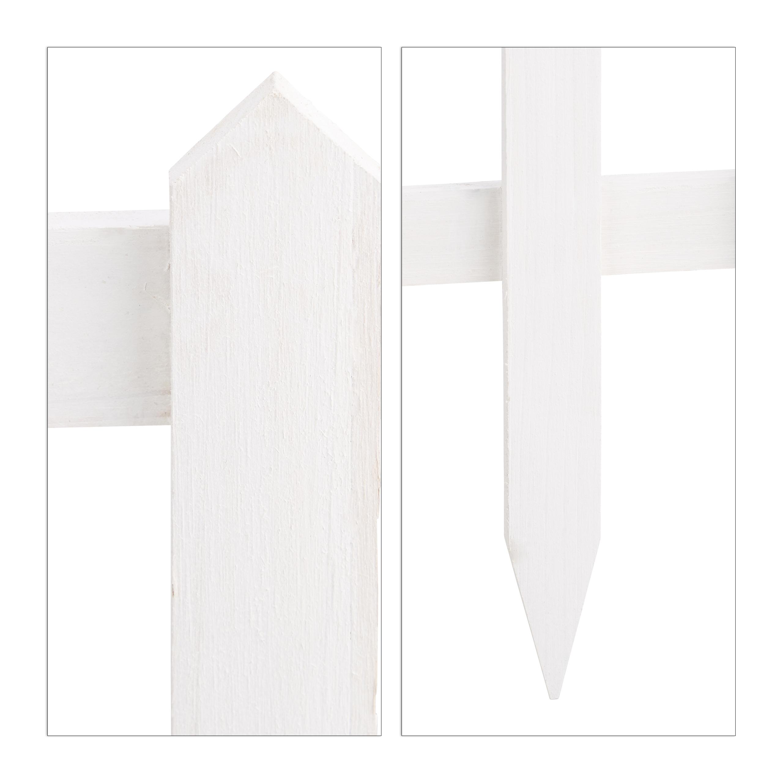 Steckzaun Weiß 60 cm Beetzaun Gartenzaun Set Zierzaun Dekozaun Beeteinfassungen