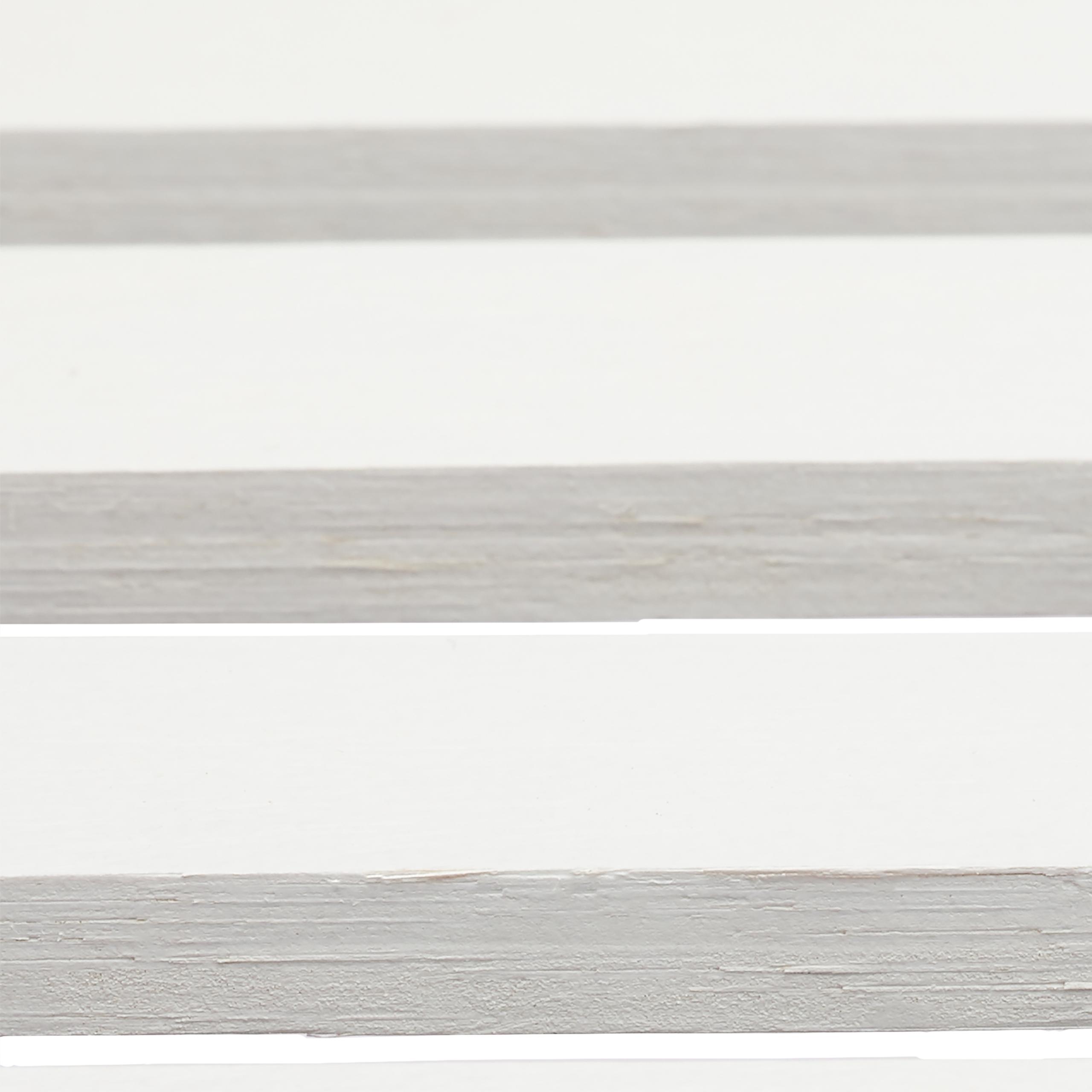 BambuRegal Bambus 3-5 Ablagen Weiß Küchenregal Standregal Schrankteil Verschluss