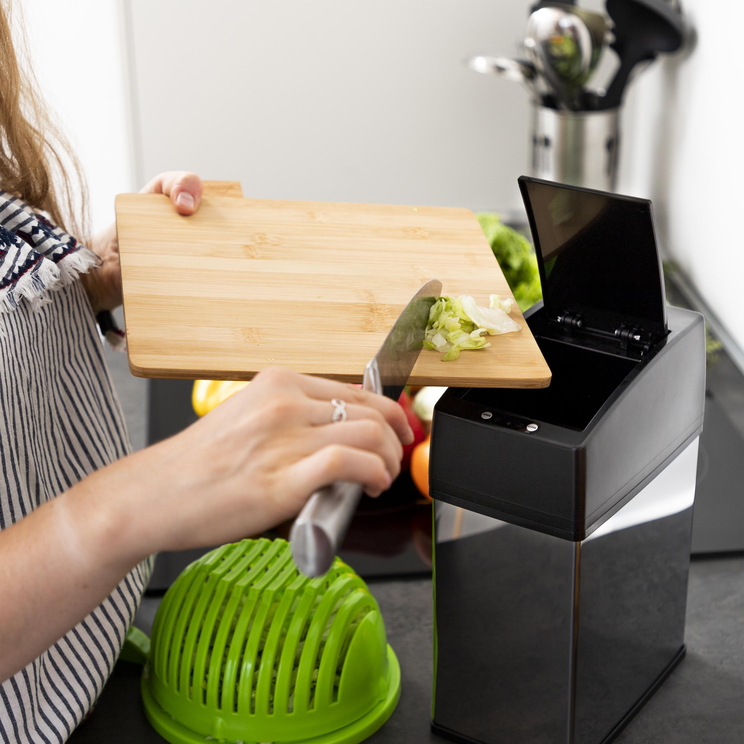 Sensor Mülleimer Edelstahl Abfallbehälter Abfalleimer Kosmetikeimer Metalleimer