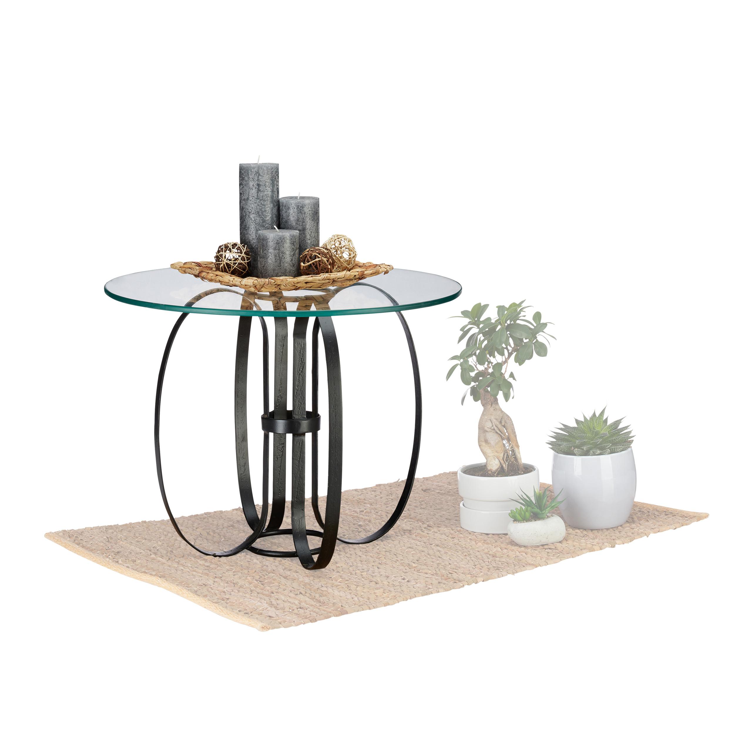 Table d'appoint ronde verre métal, table salon moderne table basse design |  eBay