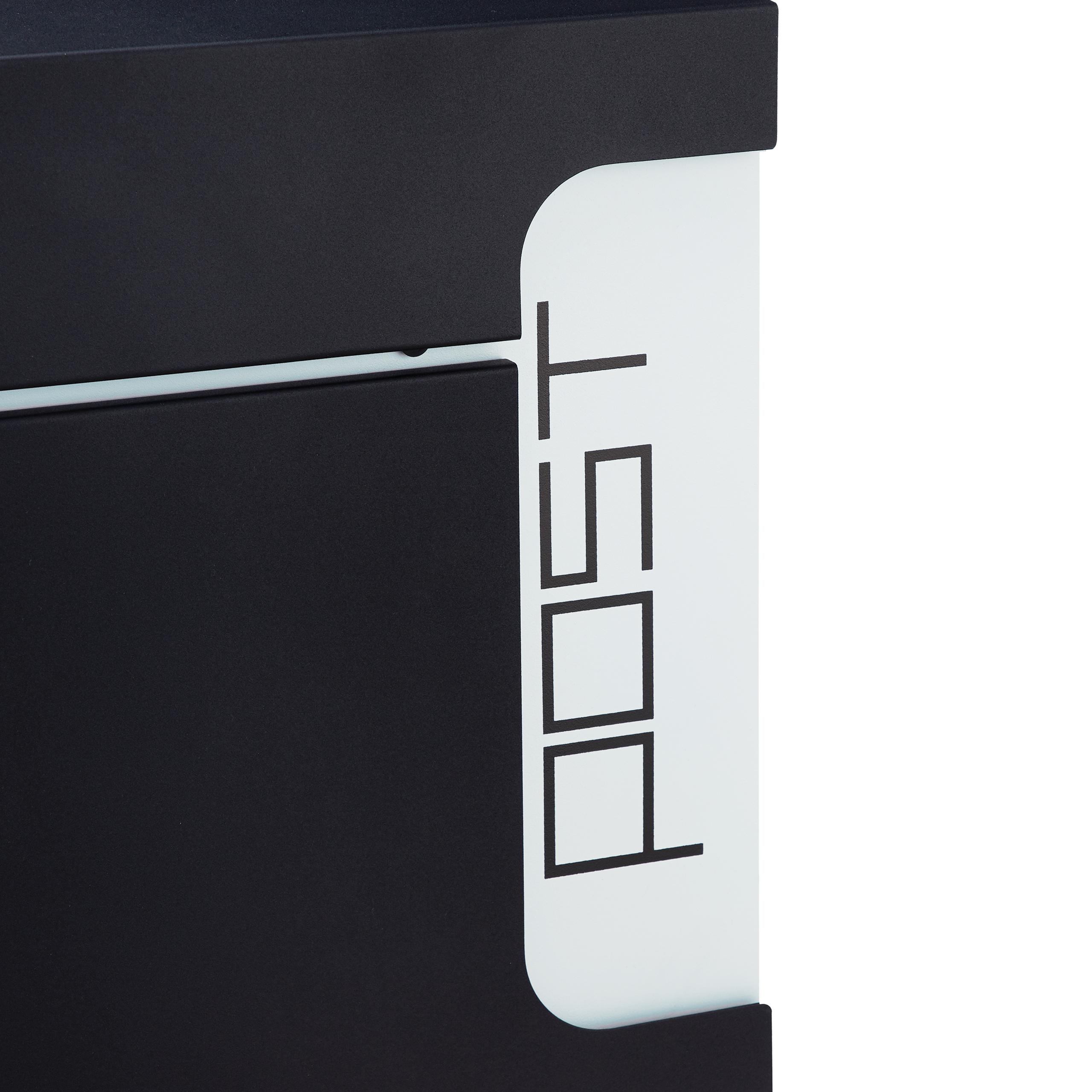 Zeitungsfach Wandbriefkasten DIN A4 mit Schloss Postbox Design Briefkasten