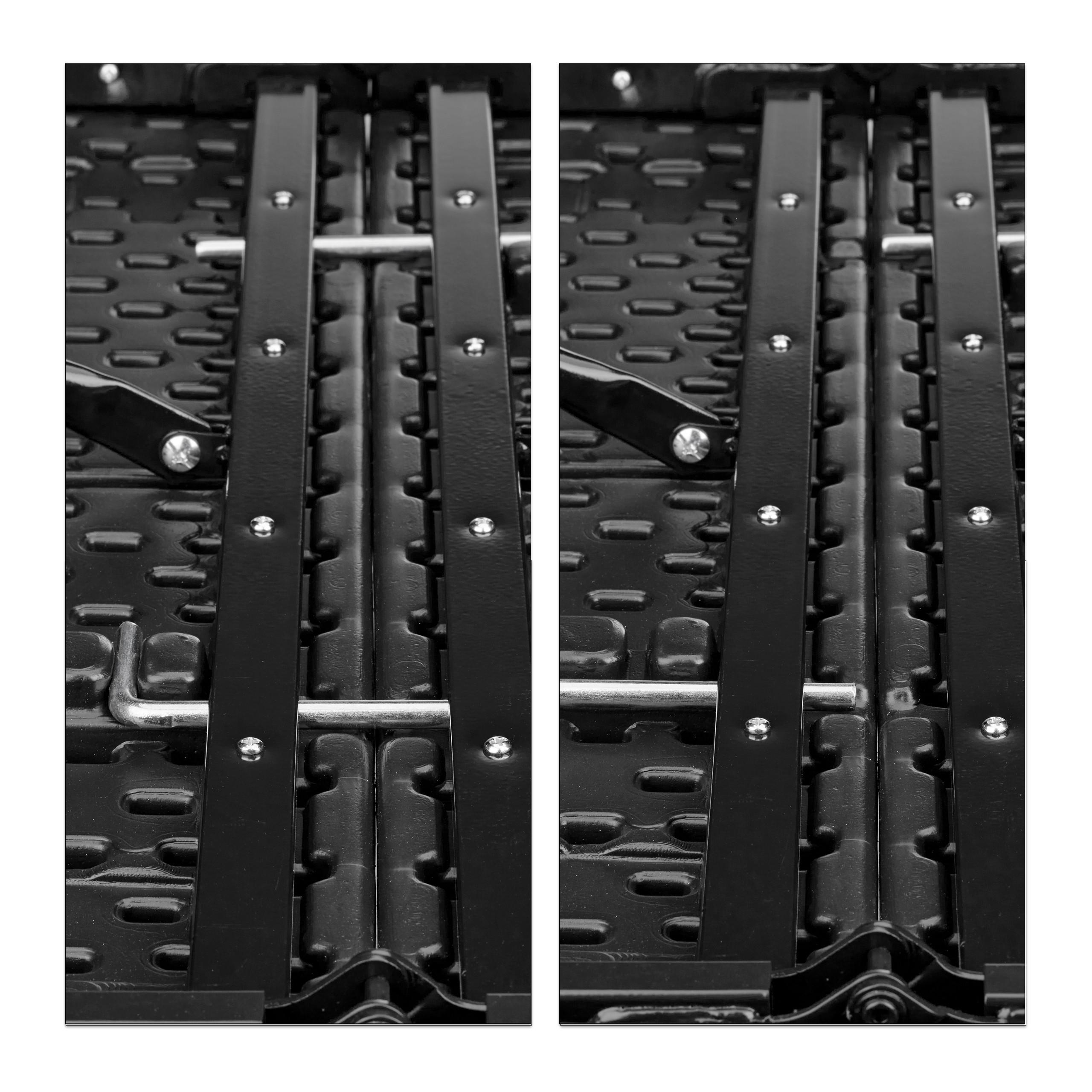 Bierzeltgarnitur klappbar BASTIAN in Rattan-Optik Gartenmöbel Set Biertisch