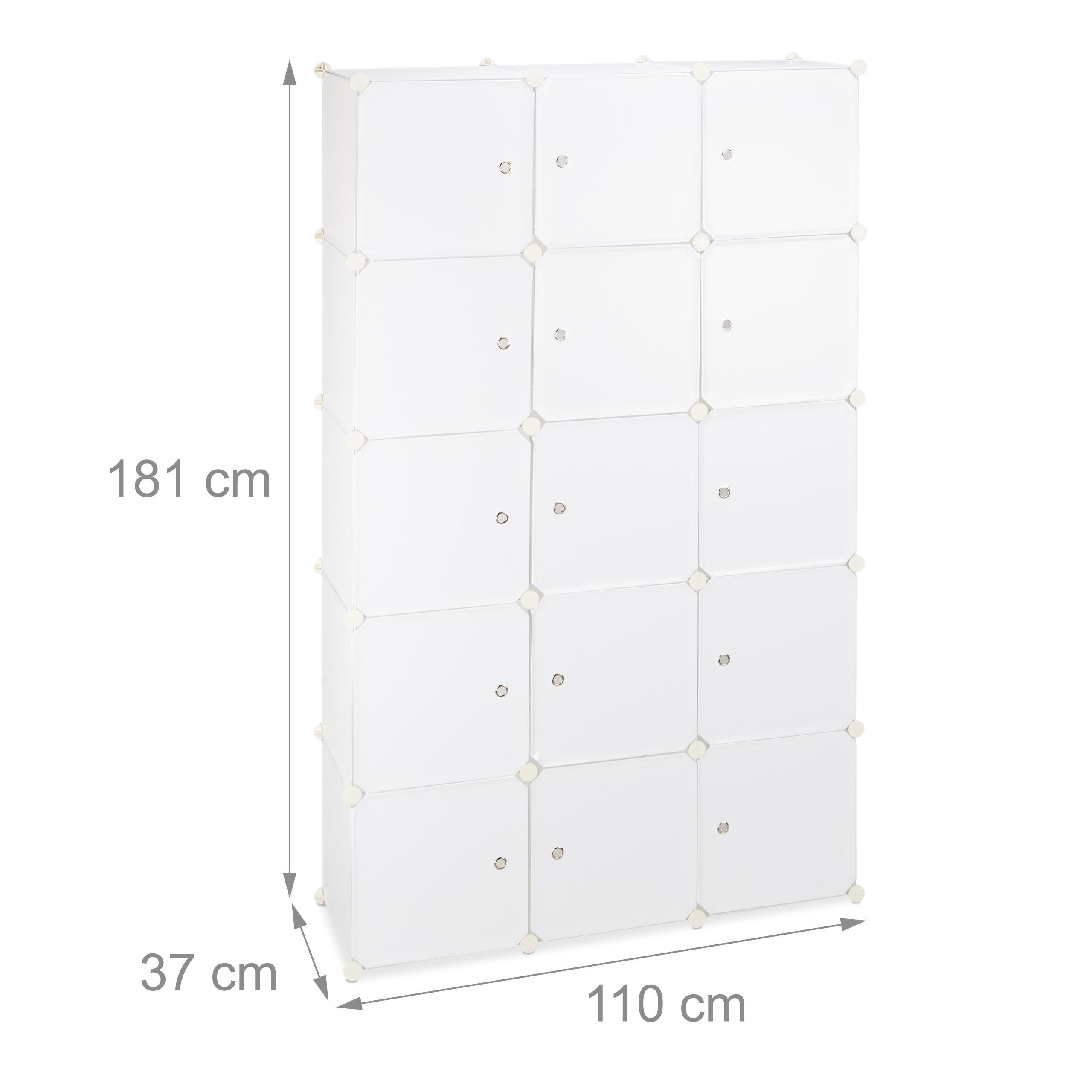 DIY Steckregal Garderobe 2 Kleiderstangen Regalsystem Kleiderschrank 11 Fächer