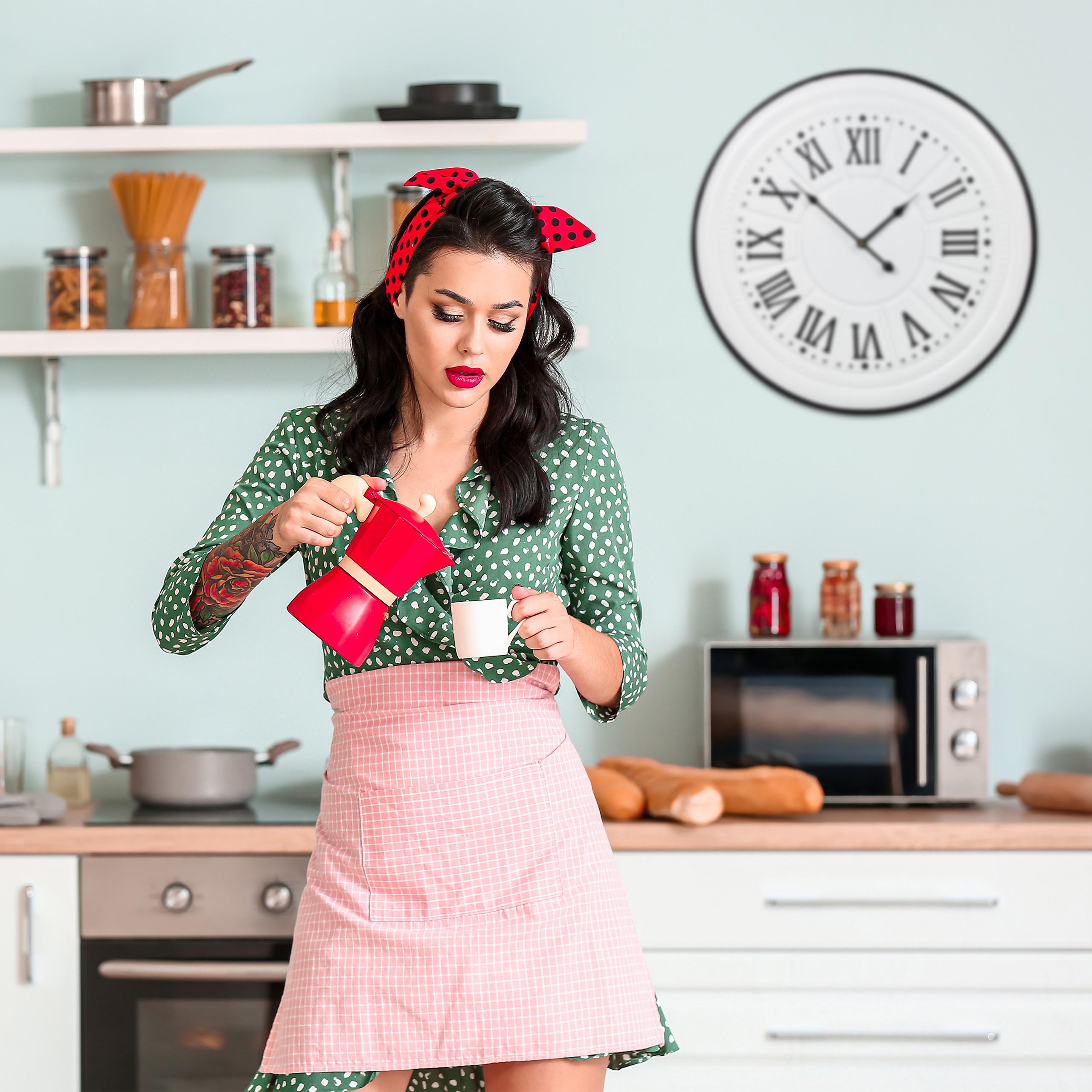Analoguhr Wohnzimmeruhr Küchenwanduhr Metall antik Retro-Uhr Wanduhr Vintage