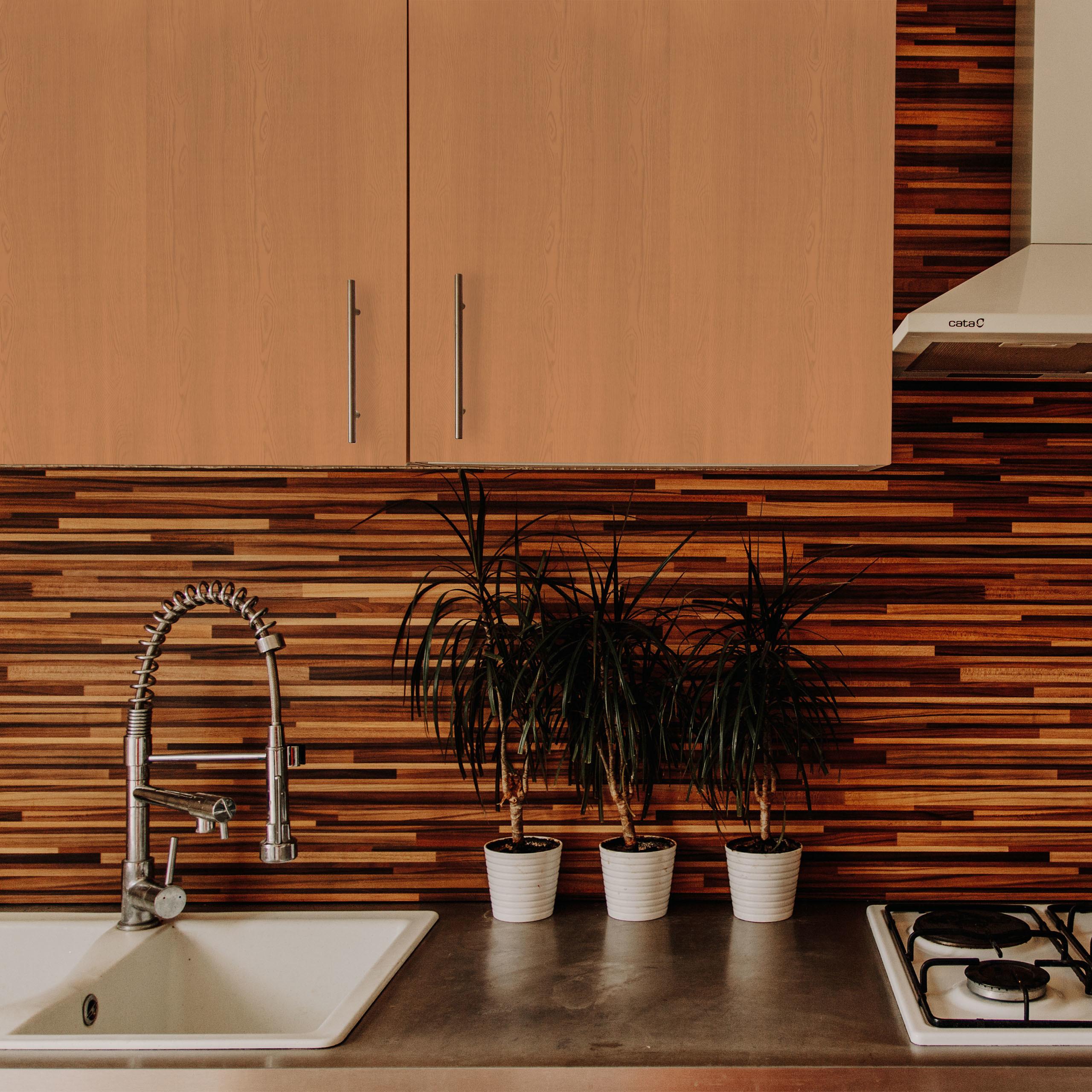 5 x Klebefolie Möbel Dekofolie Holzoptik braun Holzfolie 200 cm selbstklebend