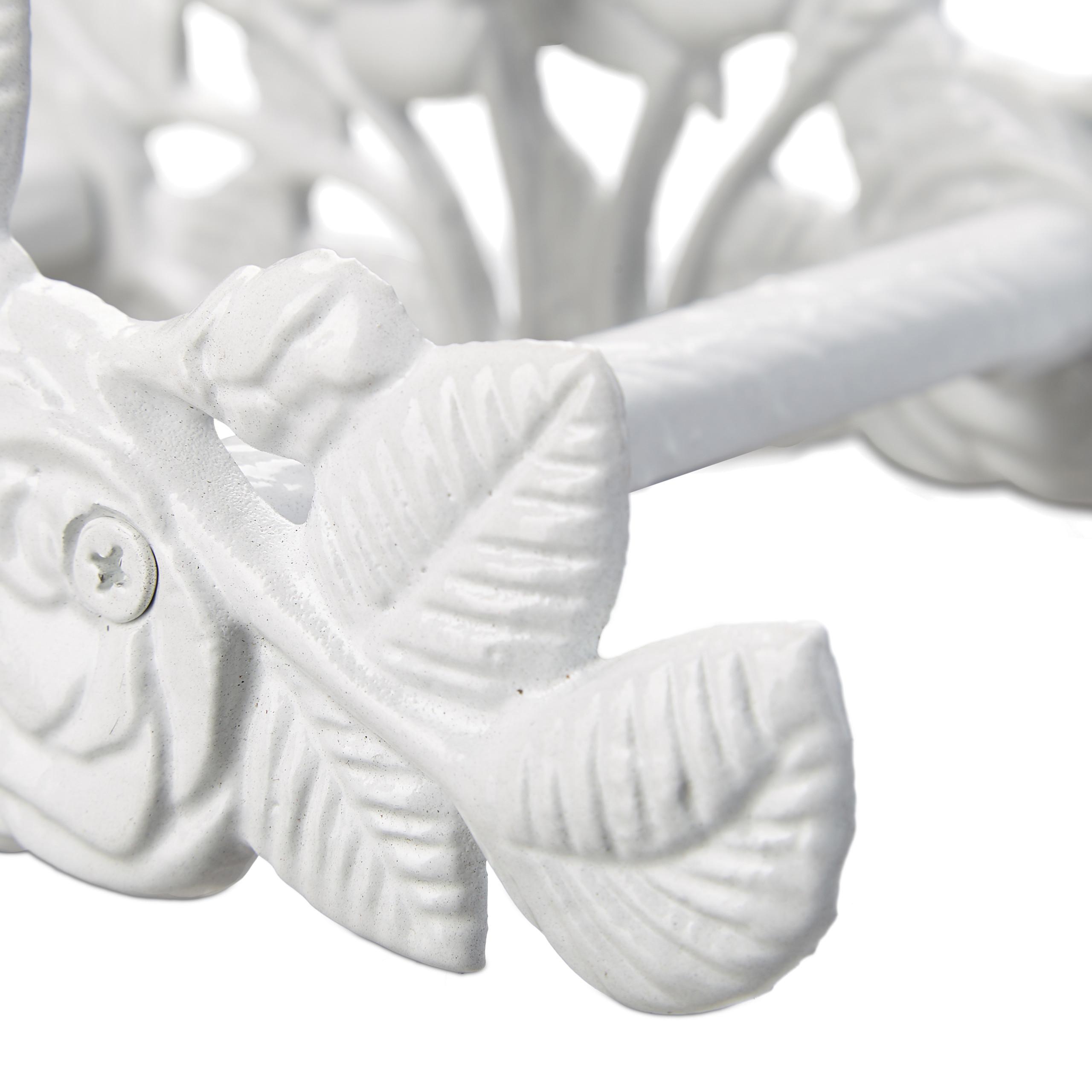 Schlauchhalter Wandhalterung antik Gusseisen Rosen Motiv Wasserschlauchhalterung