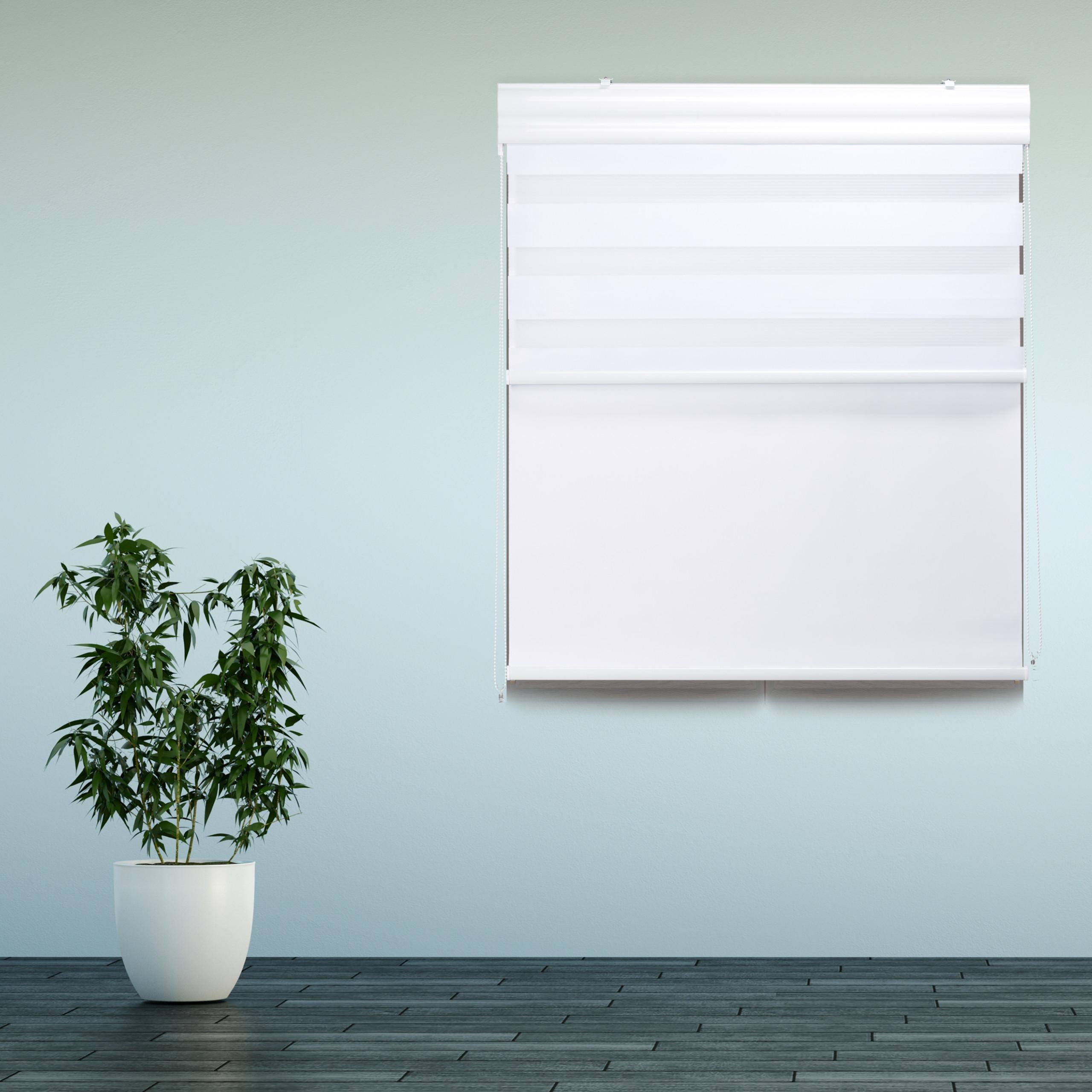 Doppelrollo Innenrollo Tageslichtrollo Thermorollo Fensterrollo blickdicht 160cm