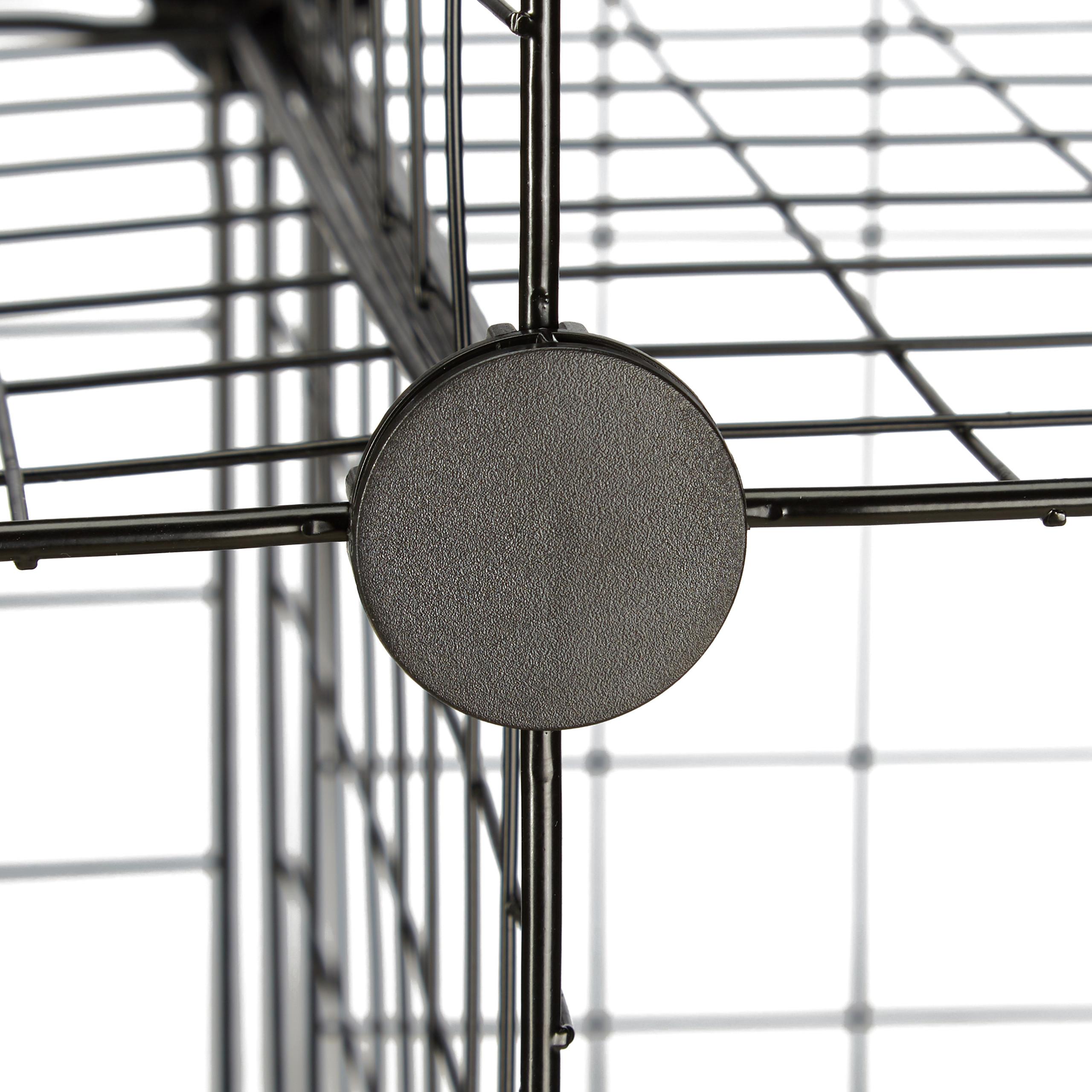 Würfelregal 9 Fächer Steckregal Drahtgitter DIY Modulregal Aufbewahrungssystem