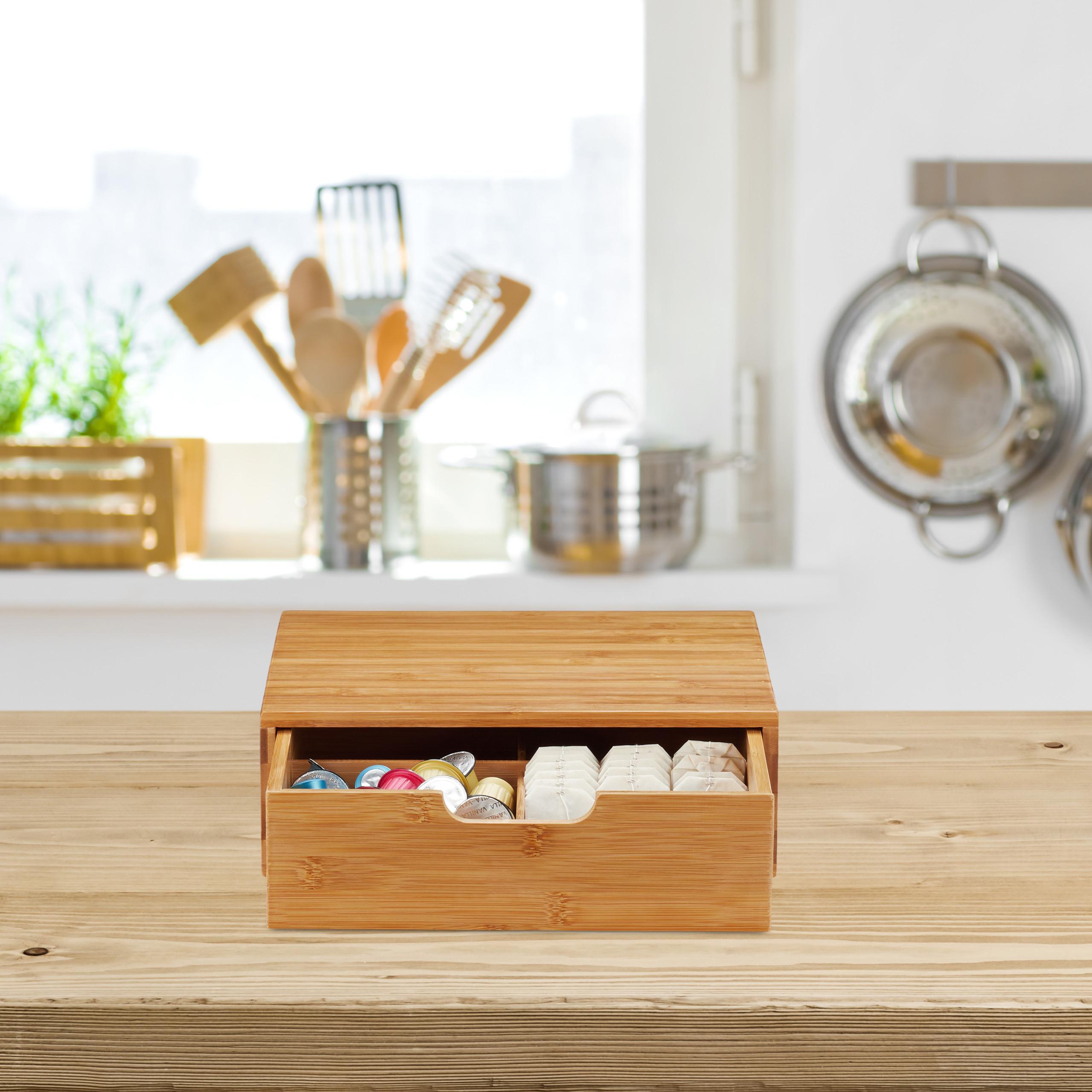 Schubladenbox Bambus Schubladen Organizer Drawer Organizer Tischorganizer natur