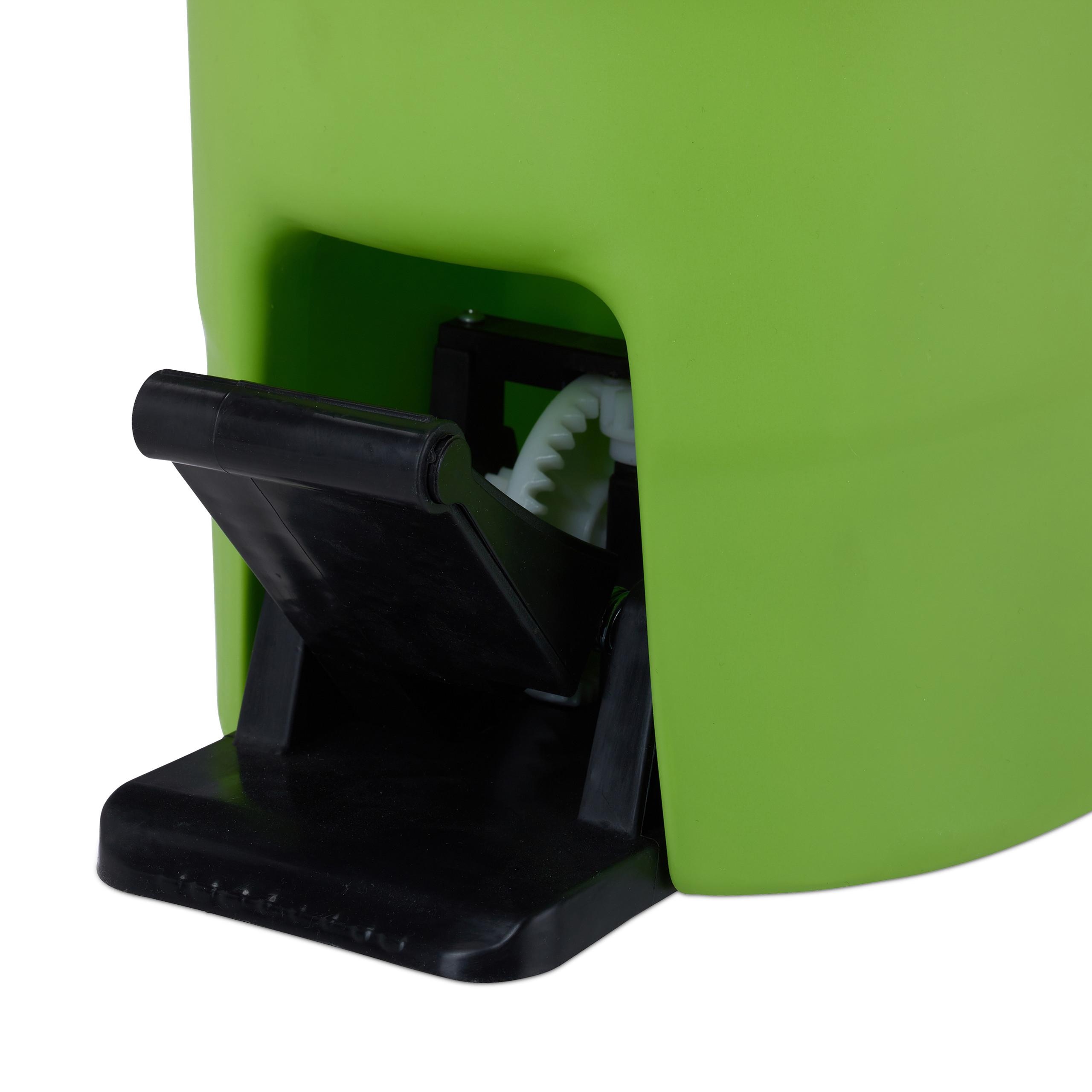 Power Mop PROFI mit Eimer Wischmopp Wischsystem Bodenwischer Mopp Wischset Pedal