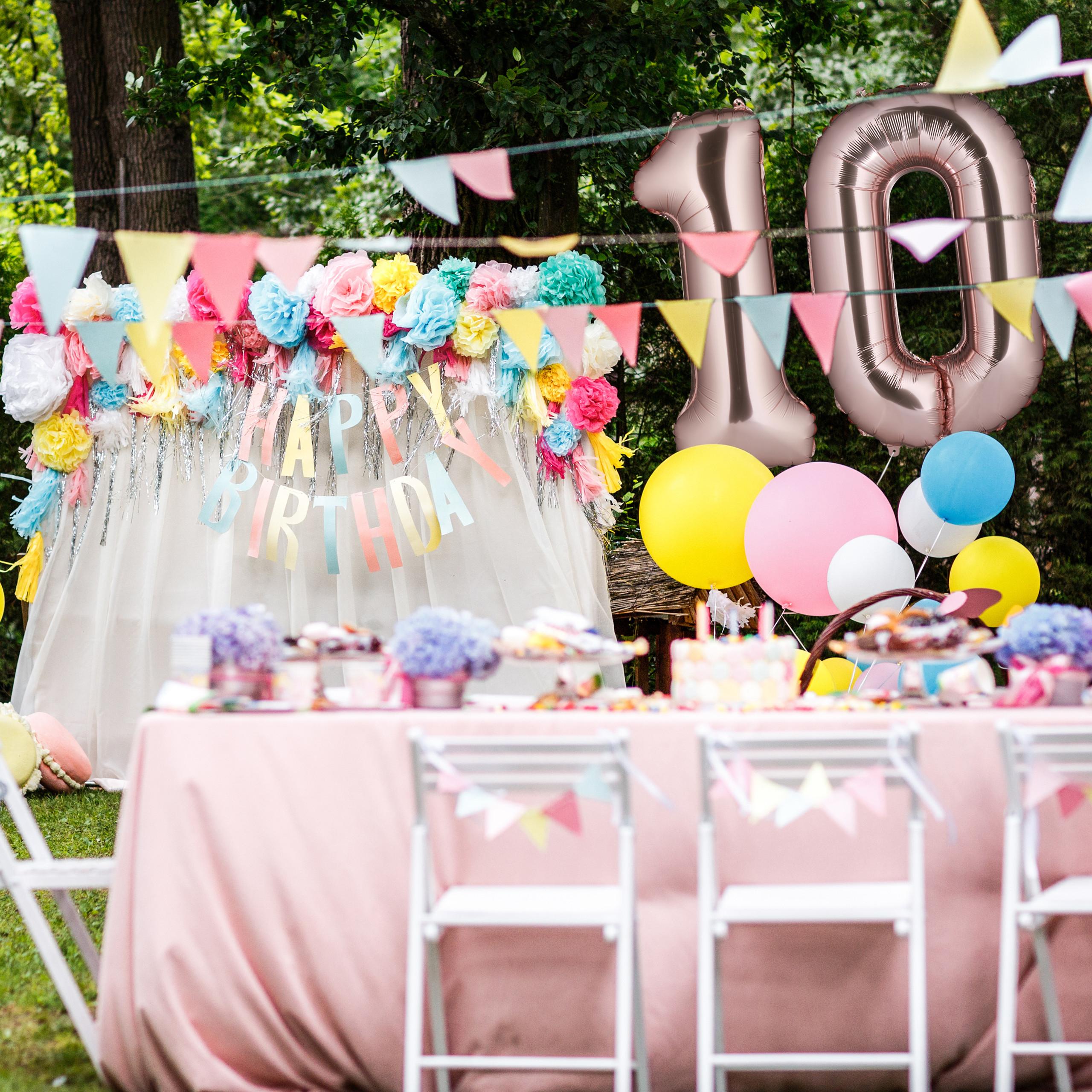Folienballon XXL Riesenballon Zahl 10 Zahlen Luftballon Geburtstag Folienzahl