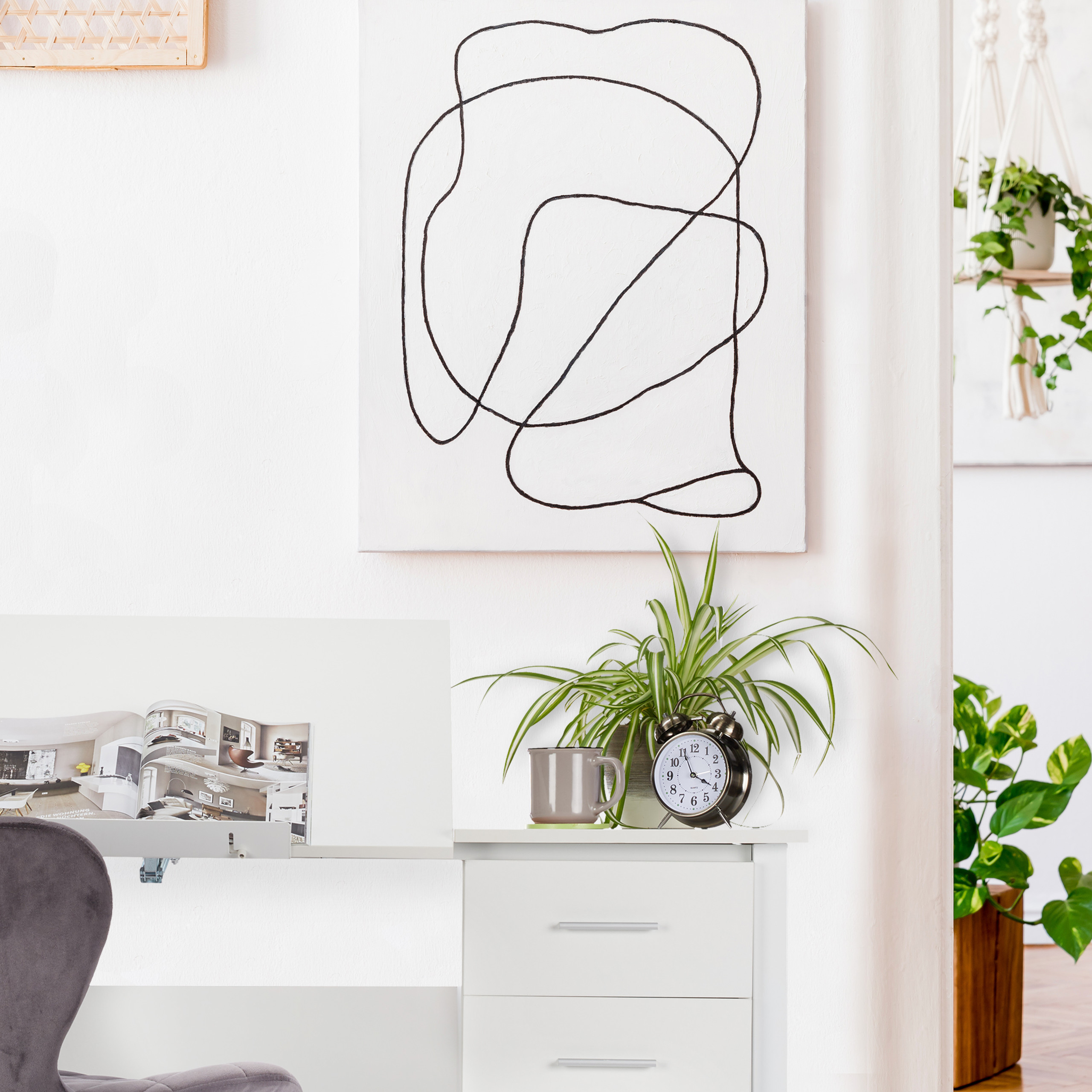 Schreibtisch neigbar Bürotisch Laptoptisch Zeichentisch Arbeitstisch verstellbar