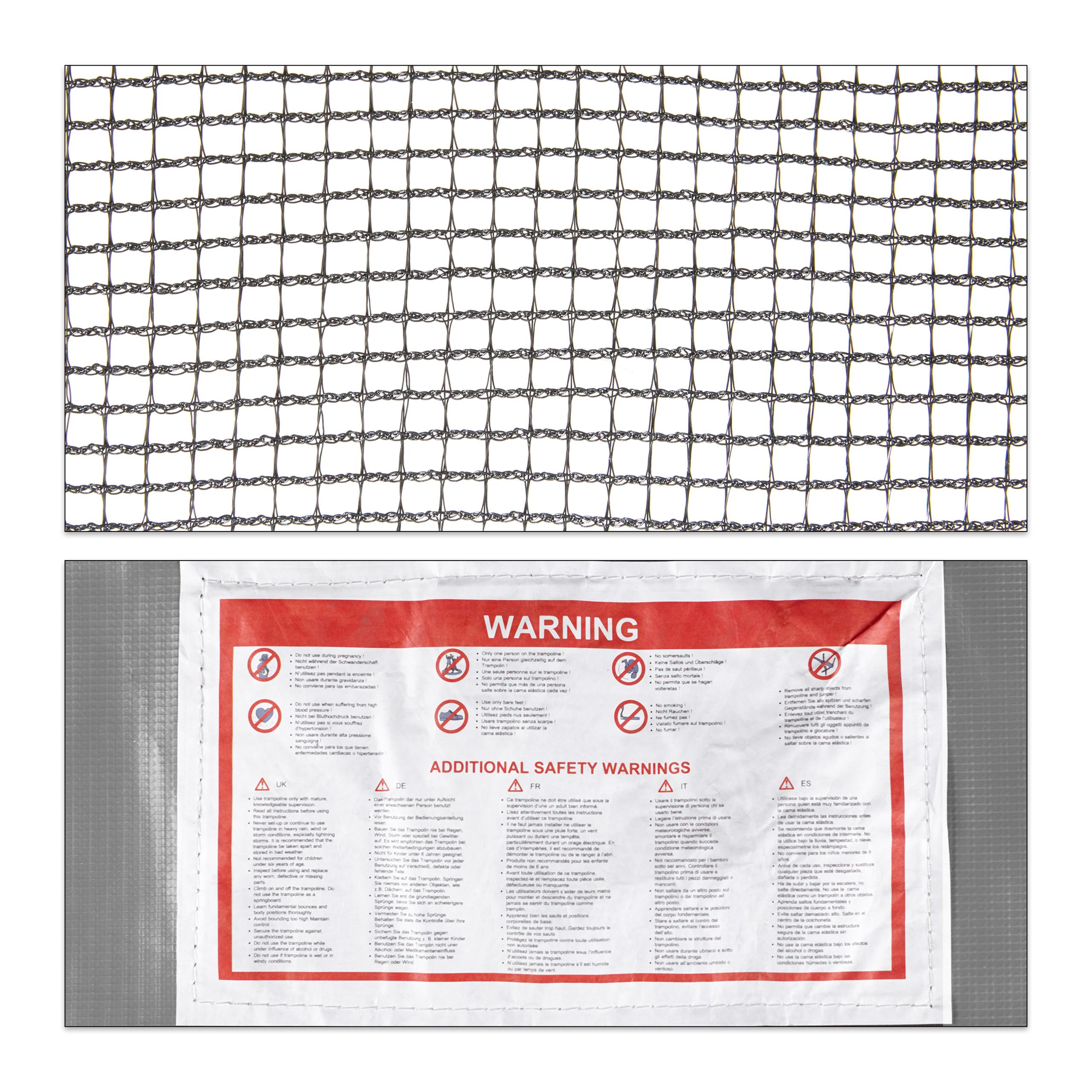 Rahmennetz Bodensicherungsnetz Gartentrampolin Trampolinnetz unten Schutznetz