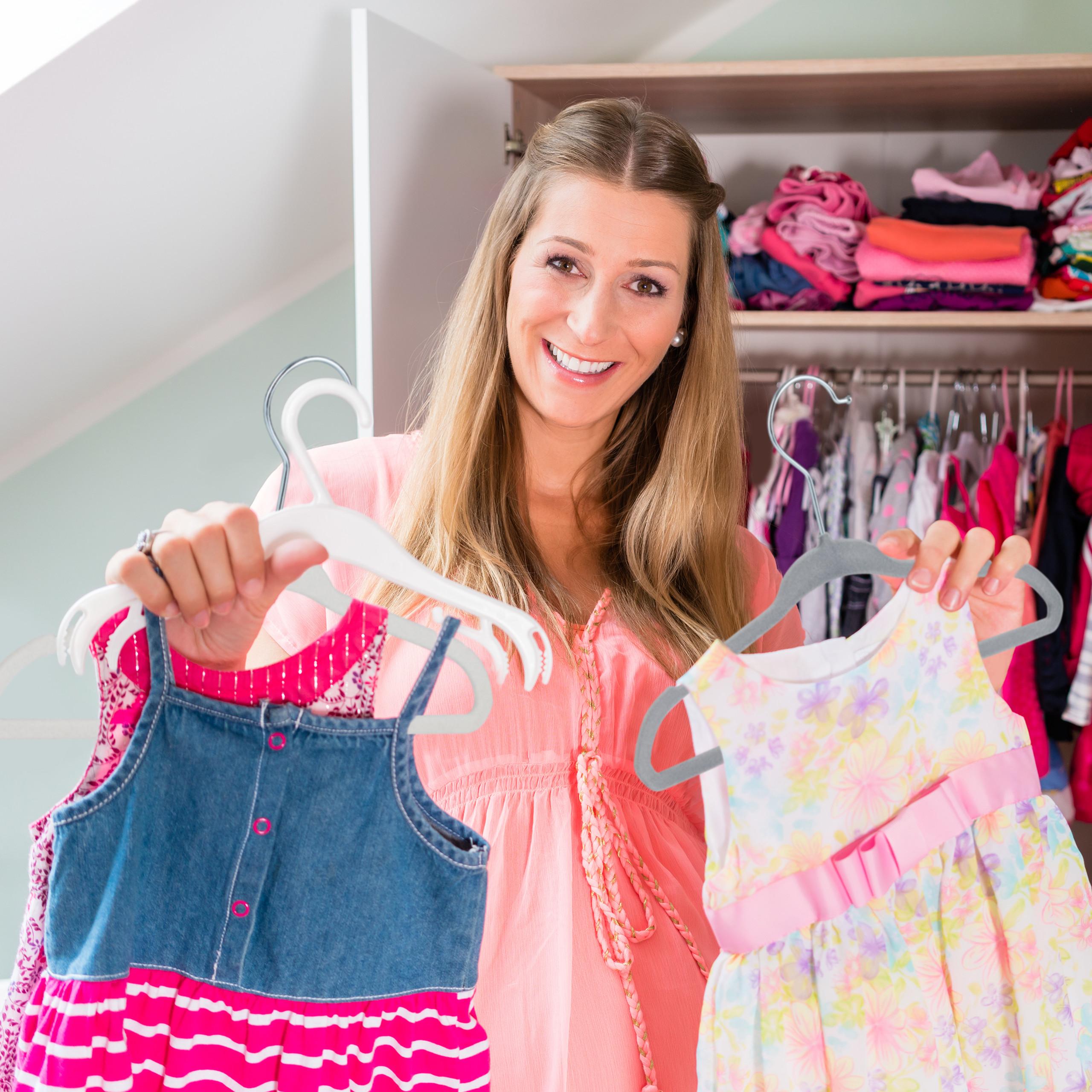 Kinderkleiderbügel Samt Babybügel Kinderbügel Samt Kleiderbügel Garderobenbügel