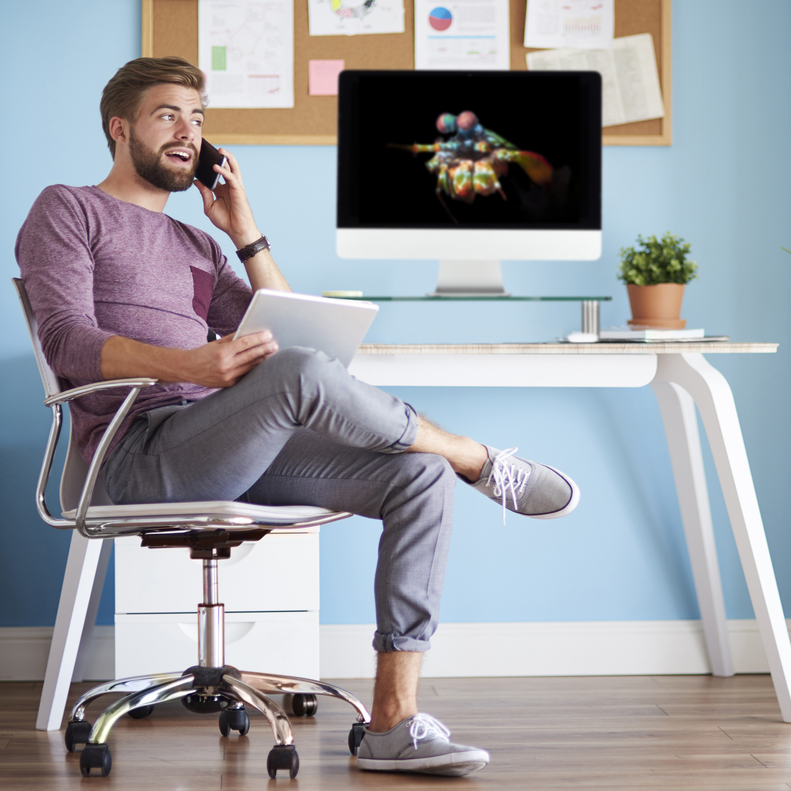 Bildschirmständer Glas Fernseherhöhung Monitorständer TV Aufsatz Monitortisch
