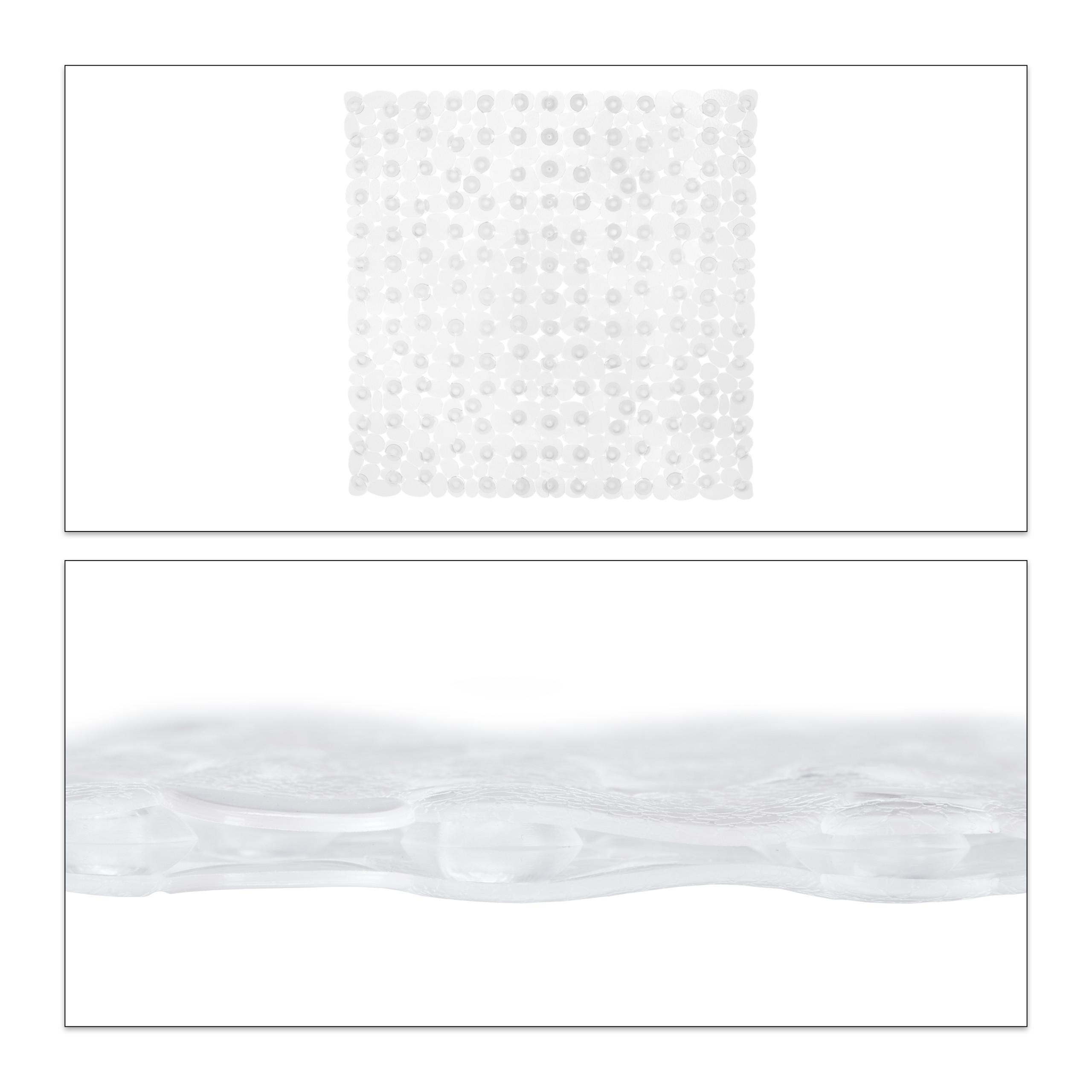 Duschmatte Steinoptik Antirutschmatte quadratisch Duscheinlage Duschwannenmatte
