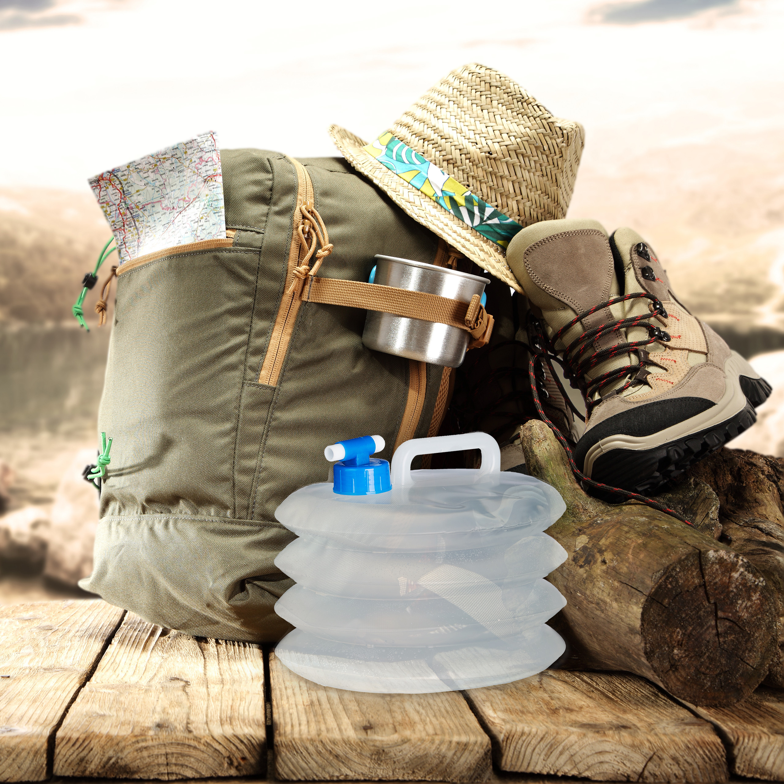 De agua plegable 4er set faltkanister camping trinkwasserkanister BPA libre