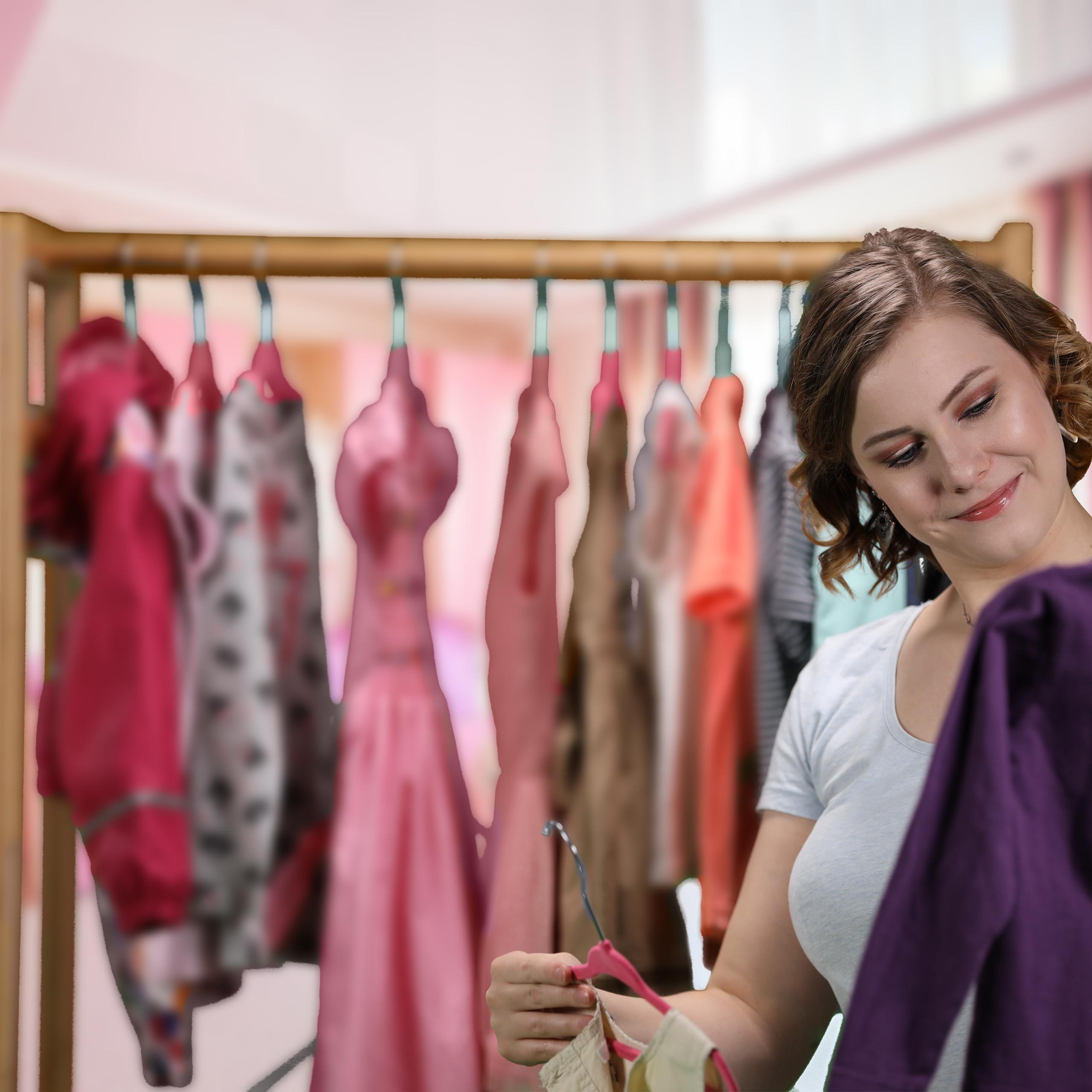 Kleiderbügel Kinder 20er Set Kunststoff Samtbügel Babybügel Samtkleiderbügel
