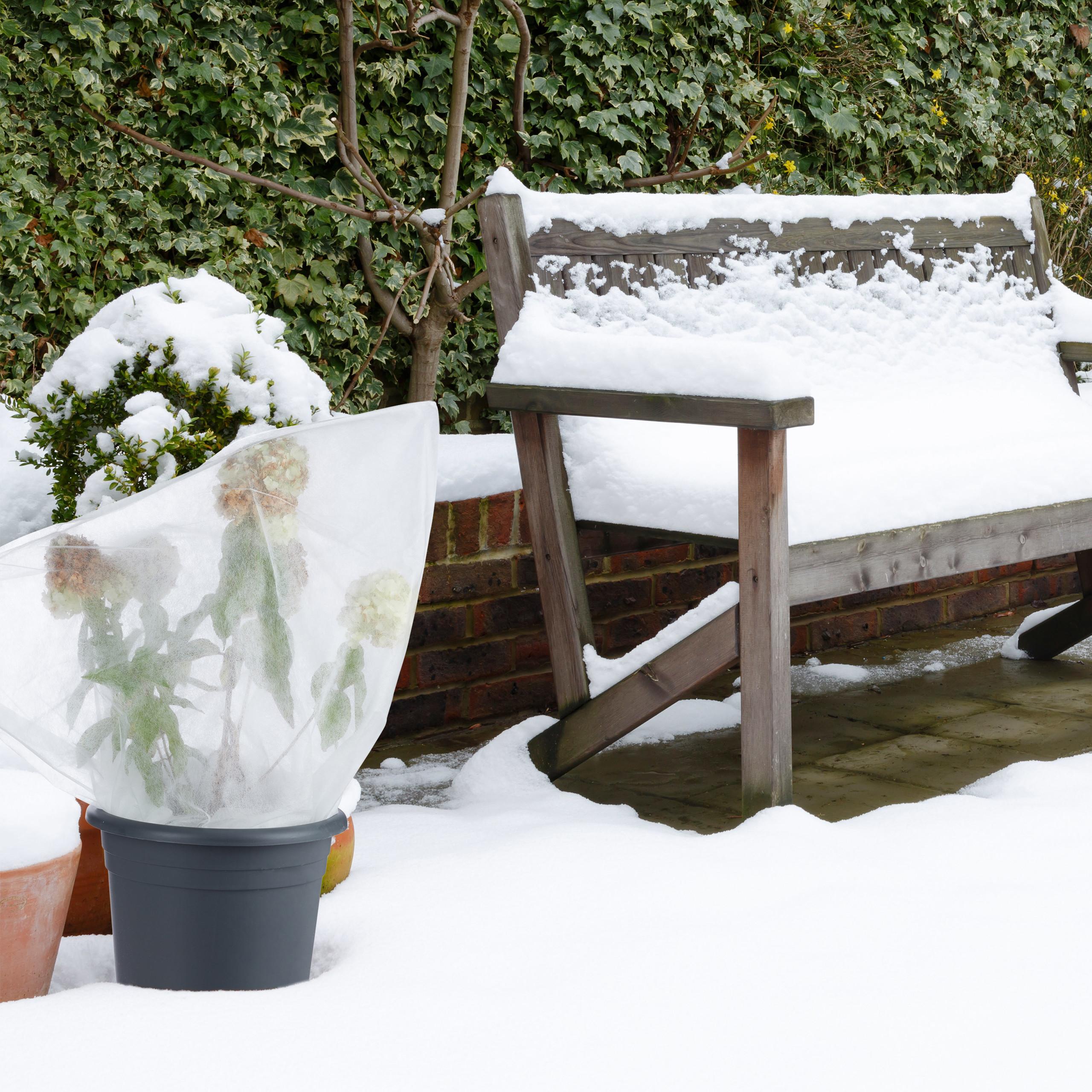 Wintervlies 2er Set Gartenvlies Frostschutzvlies für Pflanzen Kälteschutz xxl